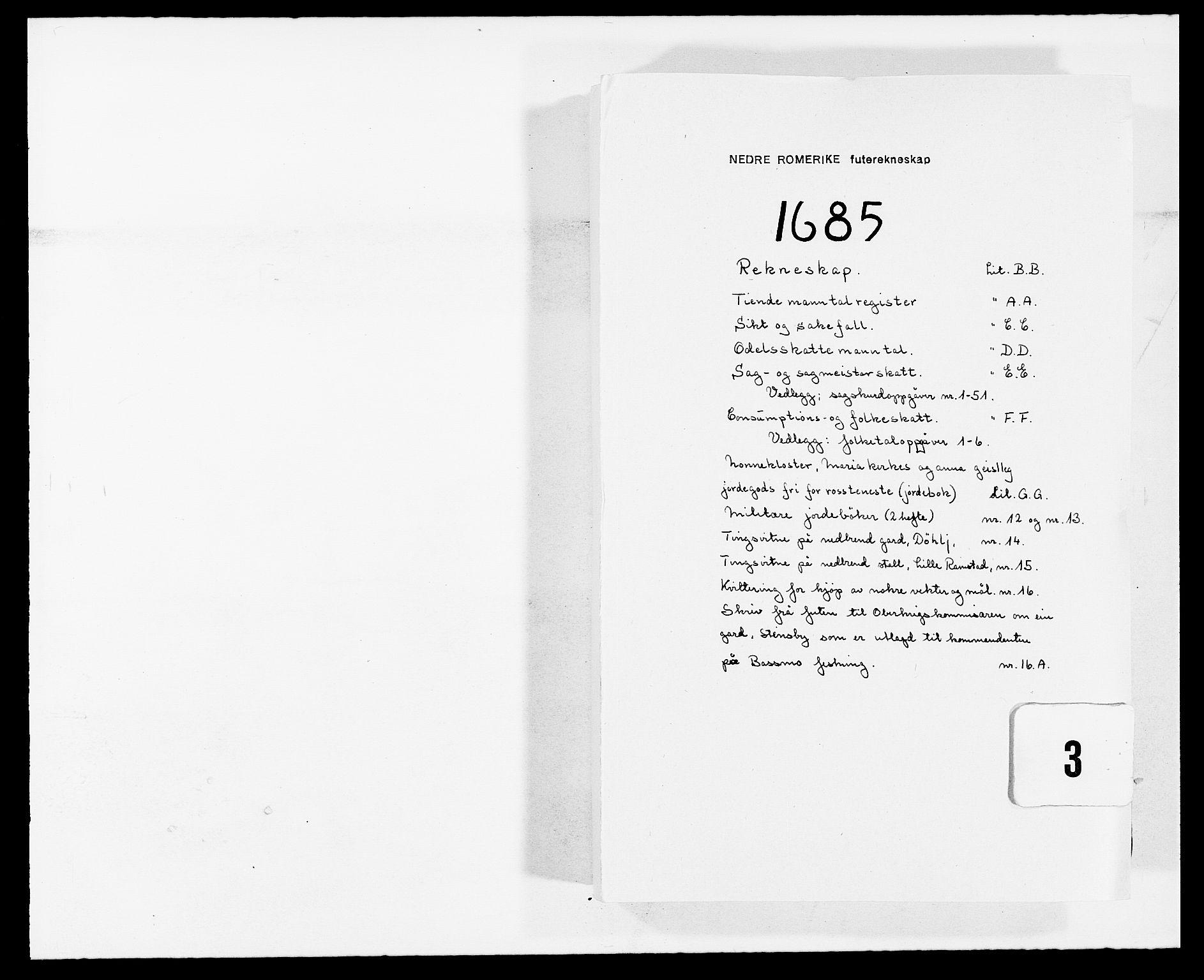 RA, Rentekammeret inntil 1814, Reviderte regnskaper, Fogderegnskap, R11/L0571: Fogderegnskap Nedre Romerike, 1683-1685, s. 325