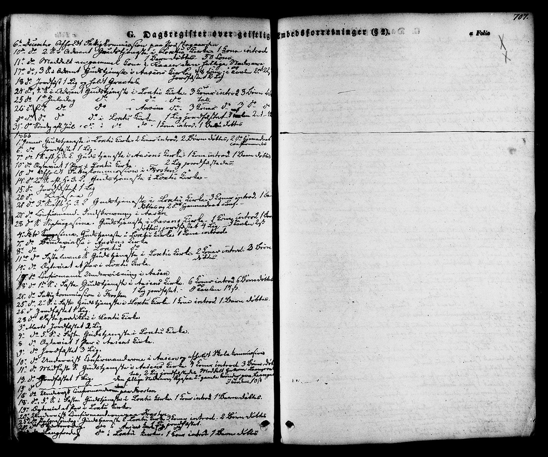SAT, Ministerialprotokoller, klokkerbøker og fødselsregistre - Nord-Trøndelag, 713/L0116: Ministerialbok nr. 713A07 /1, 1850-1877, s. 707