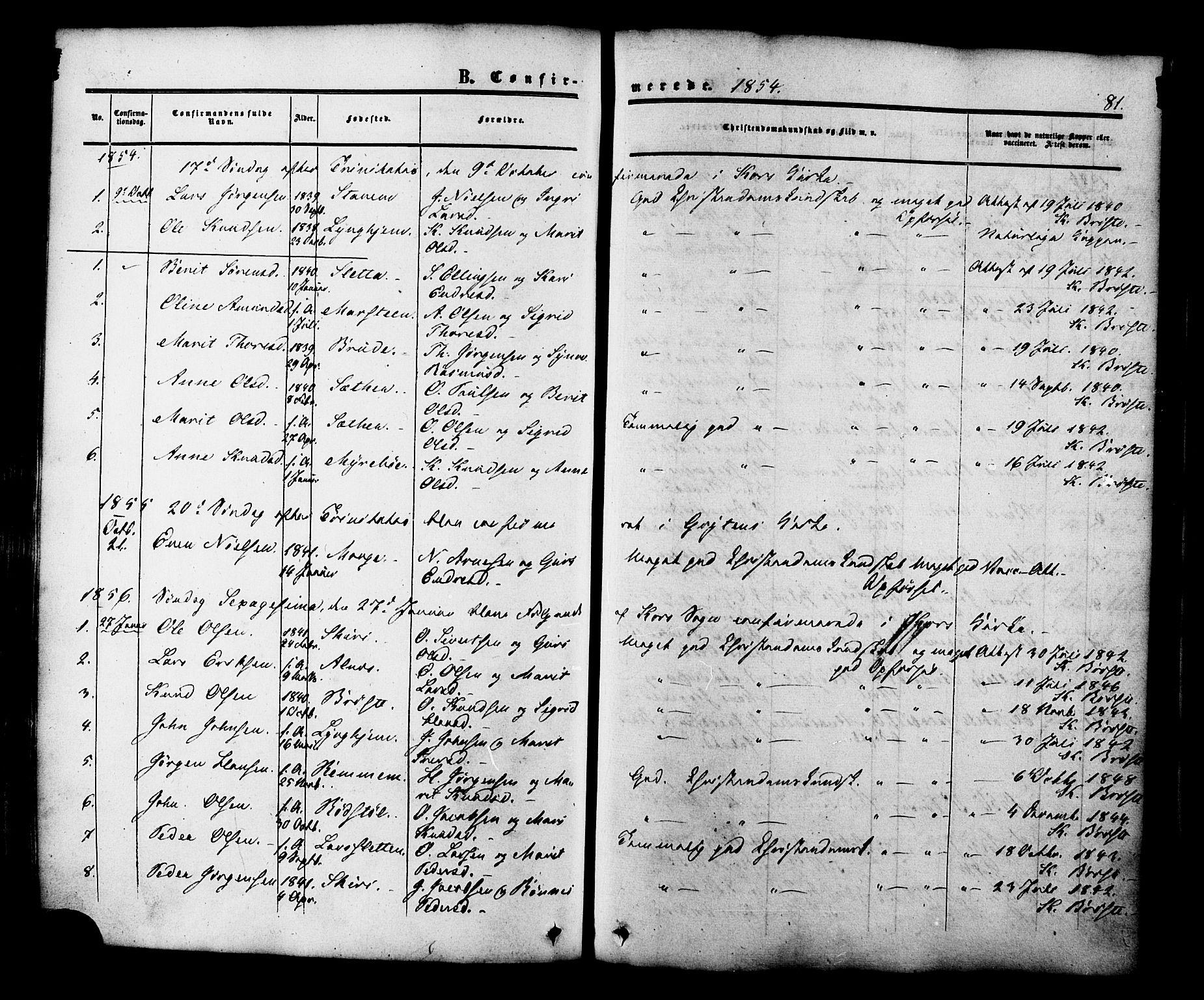 SAT, Ministerialprotokoller, klokkerbøker og fødselsregistre - Møre og Romsdal, 546/L0594: Ministerialbok nr. 546A02, 1854-1882, s. 81