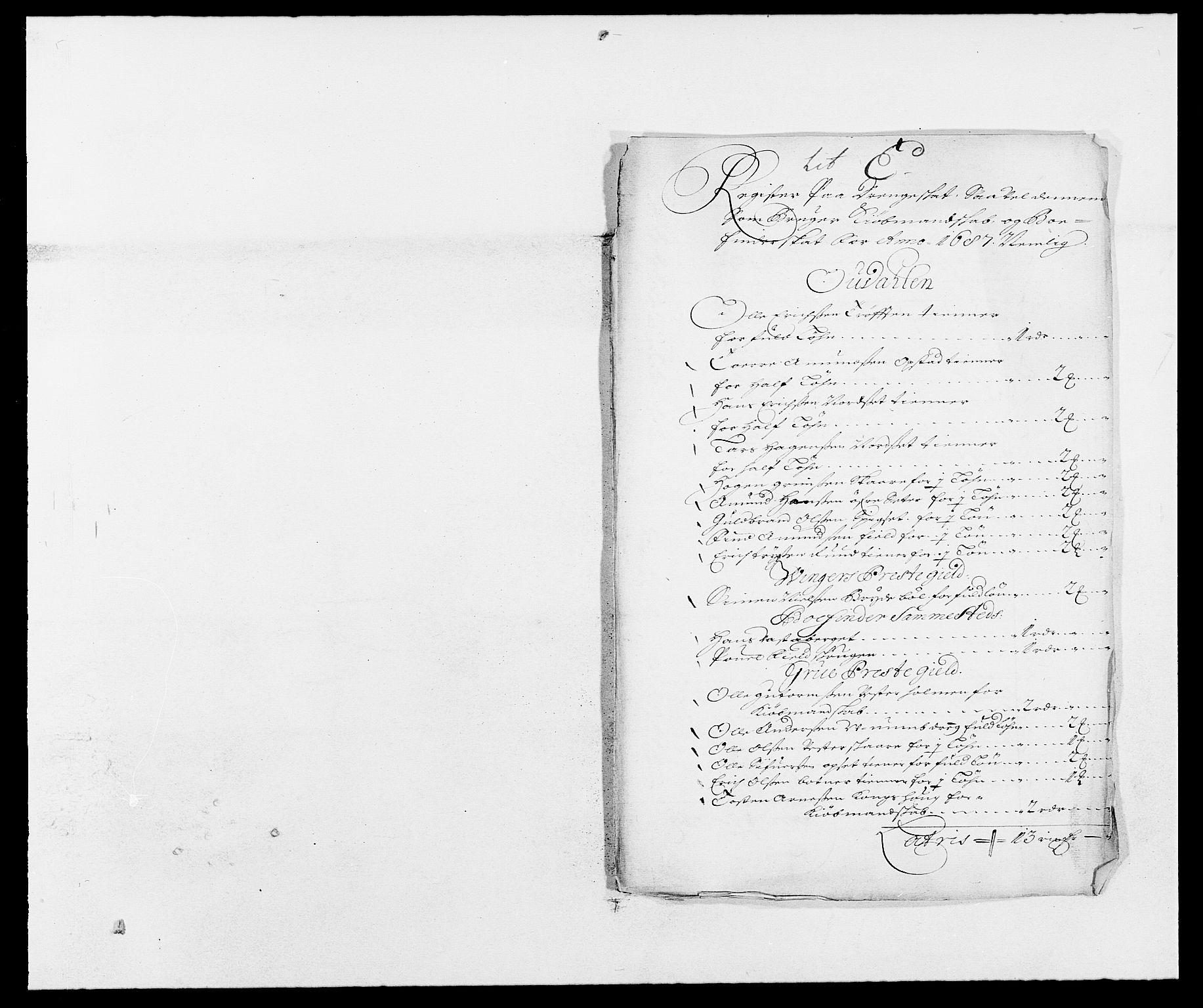 RA, Rentekammeret inntil 1814, Reviderte regnskaper, Fogderegnskap, R13/L0824: Fogderegnskap Solør, Odal og Østerdal, 1687, s. 217