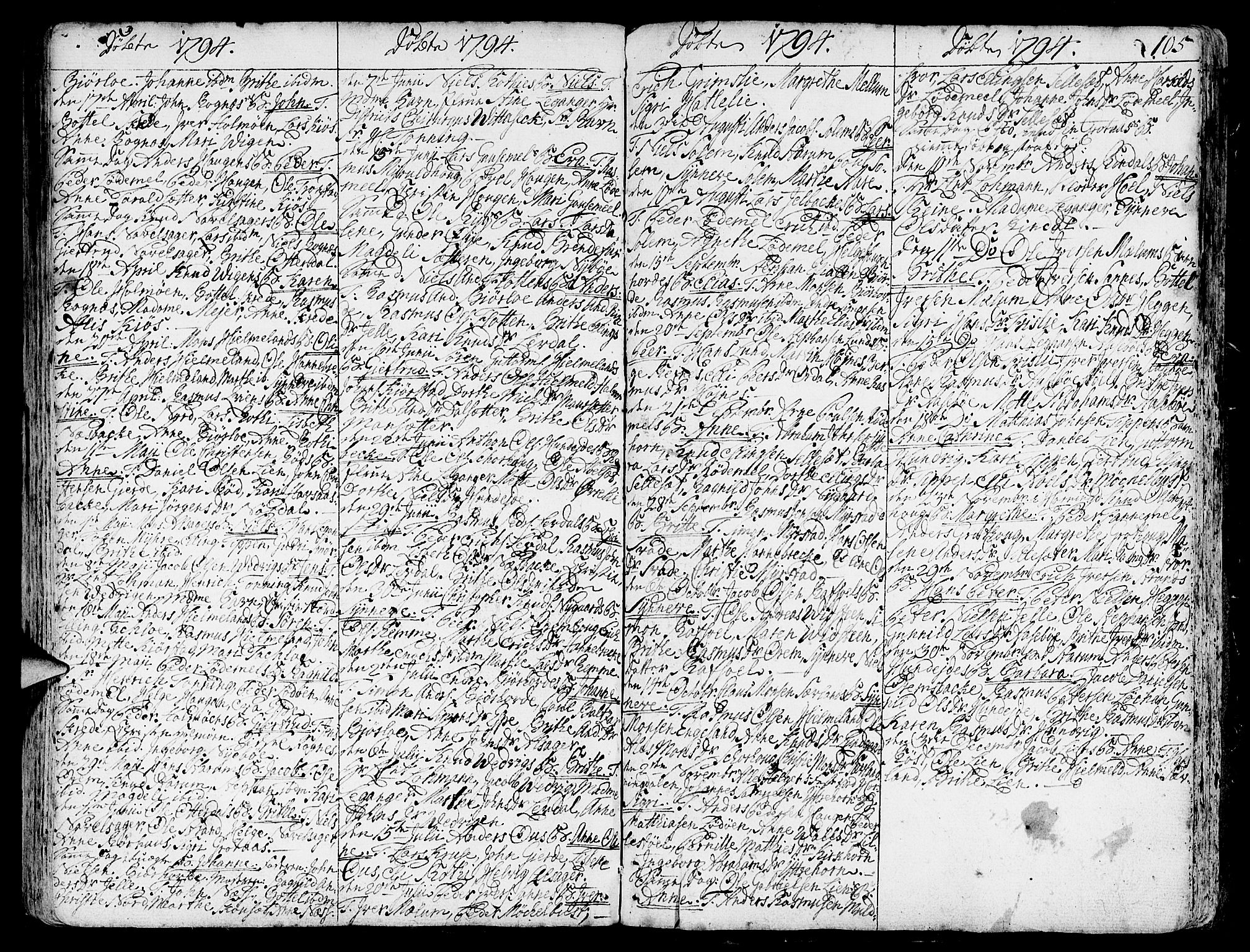 SAB, Eid Sokneprestembete, H/Haa: Ministerialbok nr. A 3, 1770-1805, s. 105