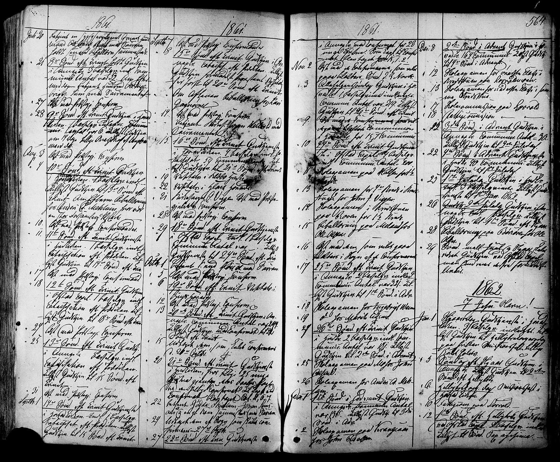 SAT, Ministerialprotokoller, klokkerbøker og fødselsregistre - Sør-Trøndelag, 665/L0772: Ministerialbok nr. 665A07, 1856-1878, s. 564