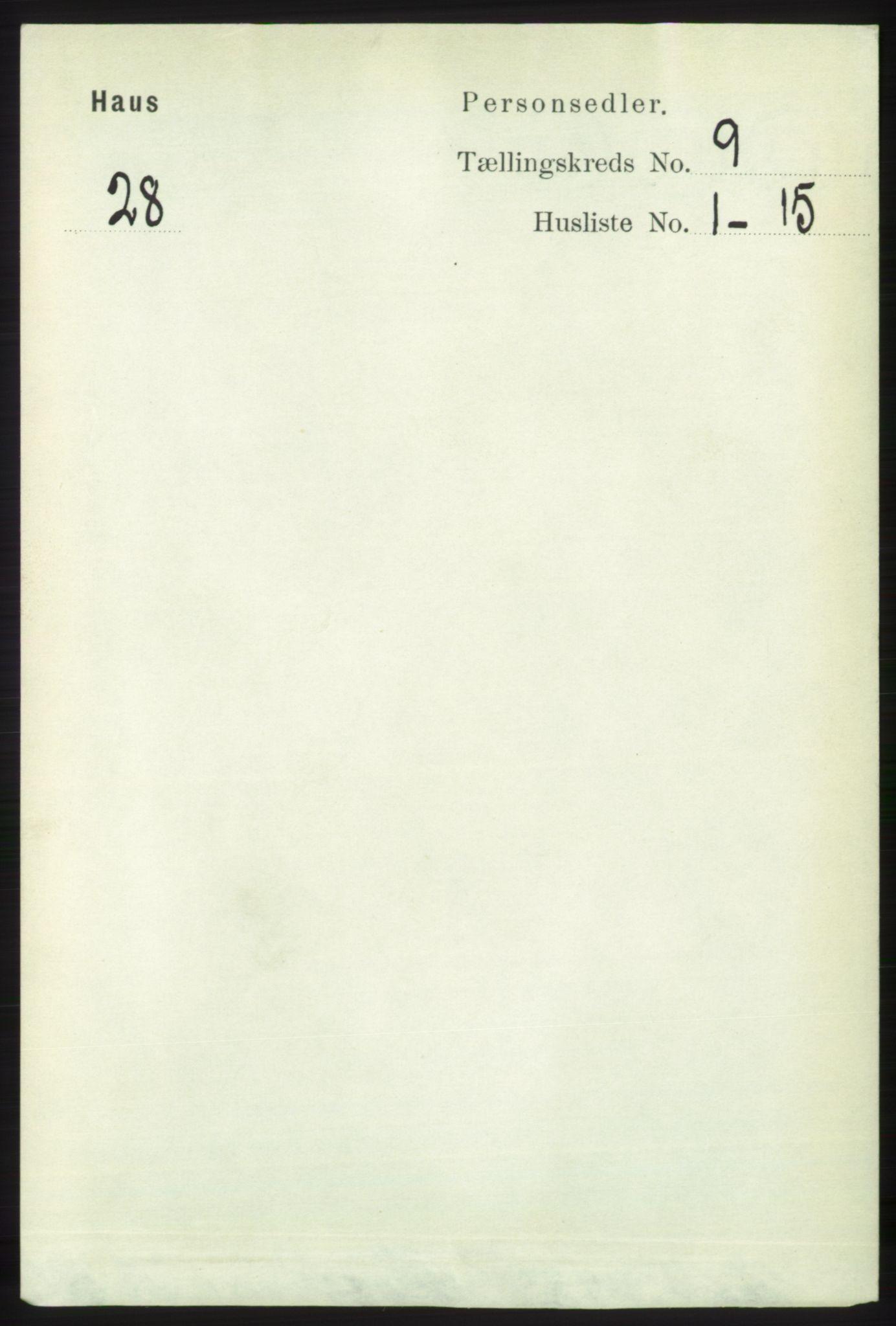 RA, Folketelling 1891 for 1250 Haus herred, 1891, s. 3543