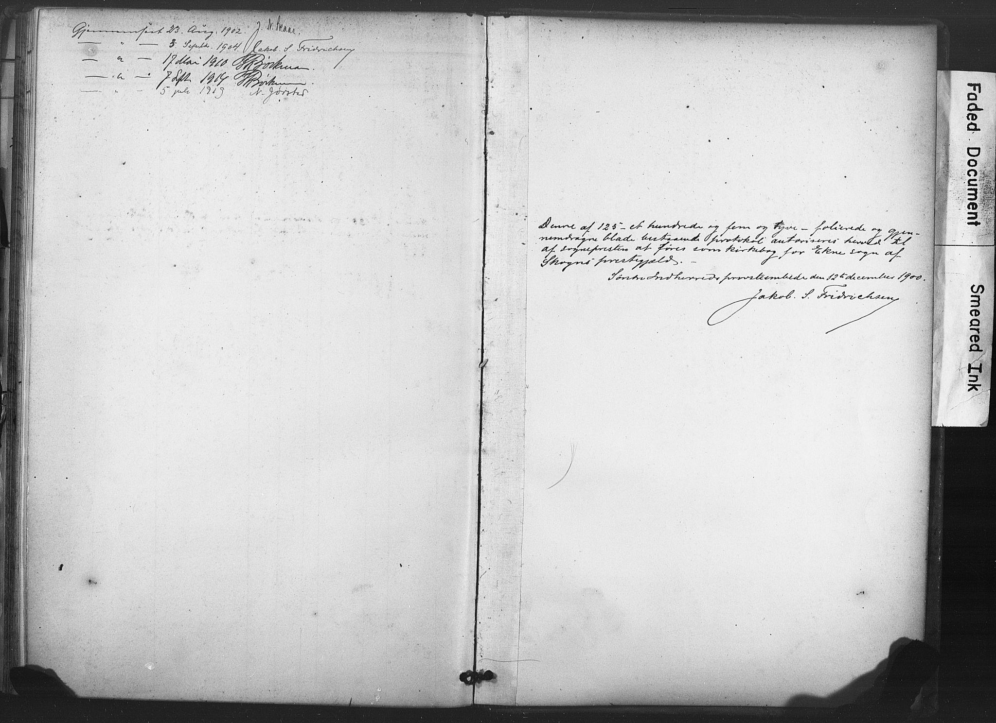 SAT, Ministerialprotokoller, klokkerbøker og fødselsregistre - Nord-Trøndelag, 719/L0179: Ministerialbok nr. 719A02, 1901-1923