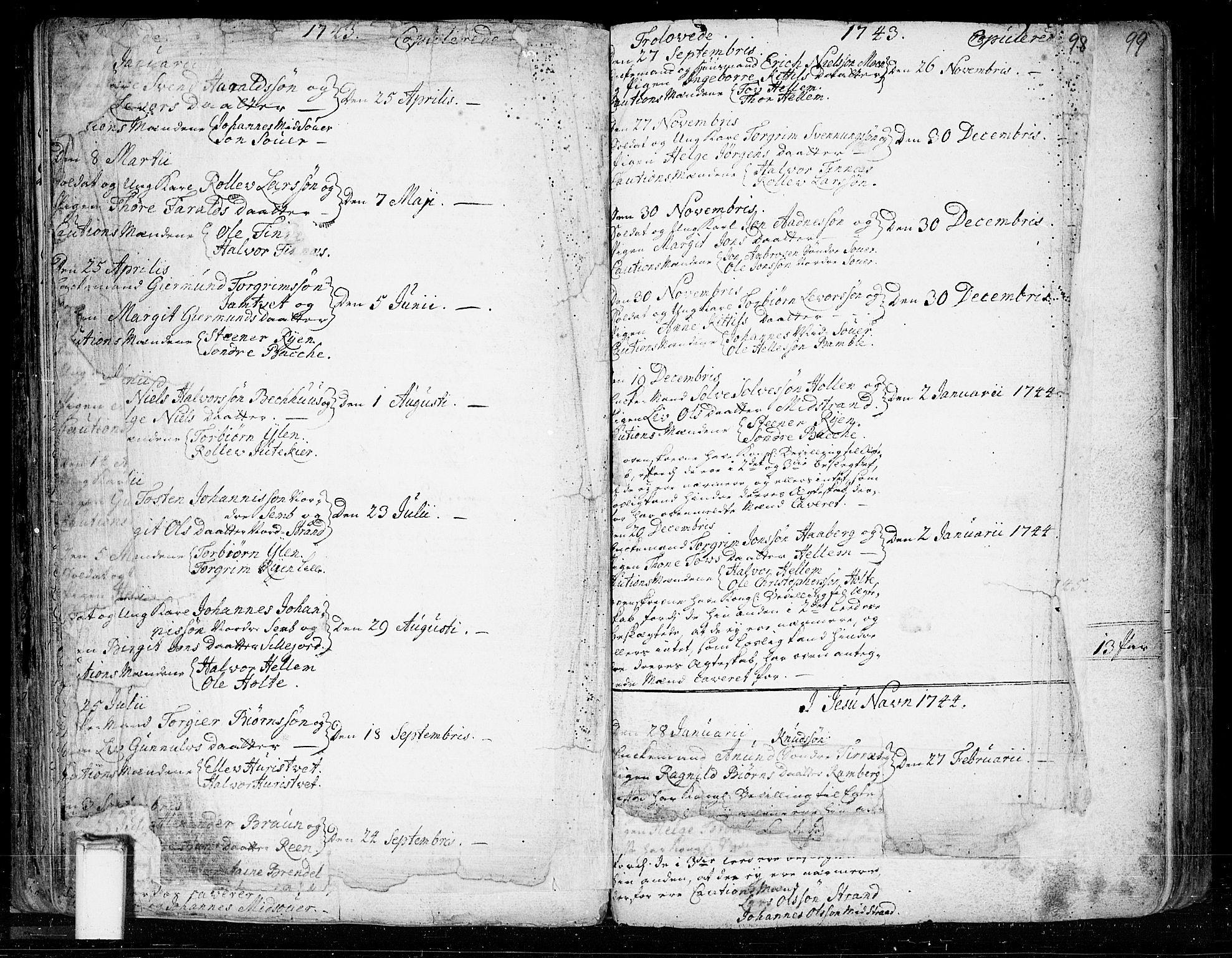 SAKO, Heddal kirkebøker, F/Fa/L0003: Ministerialbok nr. I 3, 1723-1783, s. 98