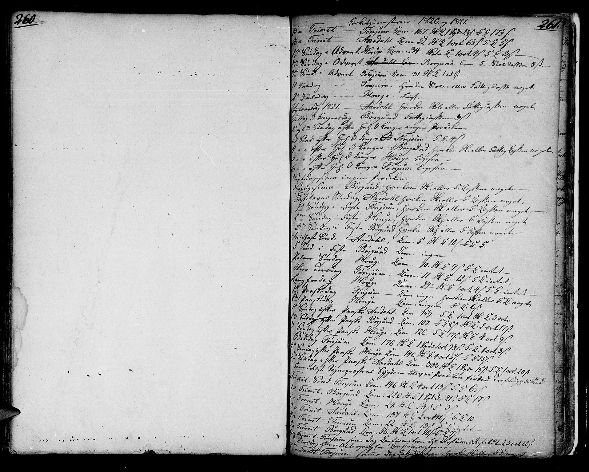 SAB, Lærdal sokneprestembete, Ministerialbok nr. A 4, 1805-1821, s. 260-261