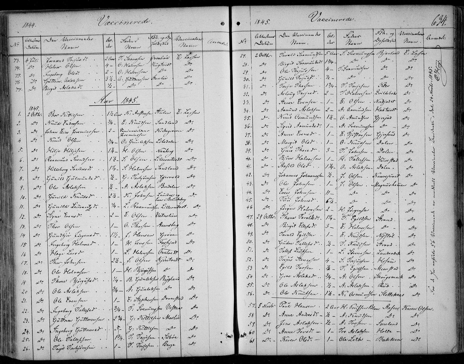 SAKO, Kviteseid kirkebøker, F/Fa/L0006: Ministerialbok nr. I 6, 1836-1858, s. 634