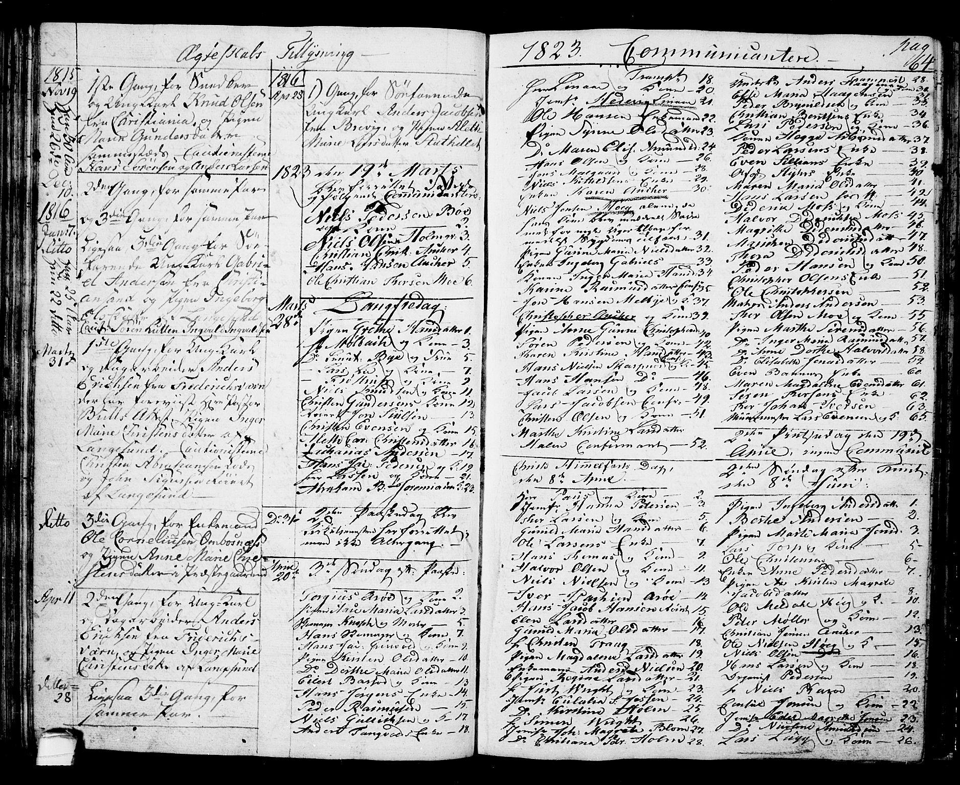 SAKO, Langesund kirkebøker, G/Ga/L0002: Klokkerbok nr. 2, 1801-1815, s. 64