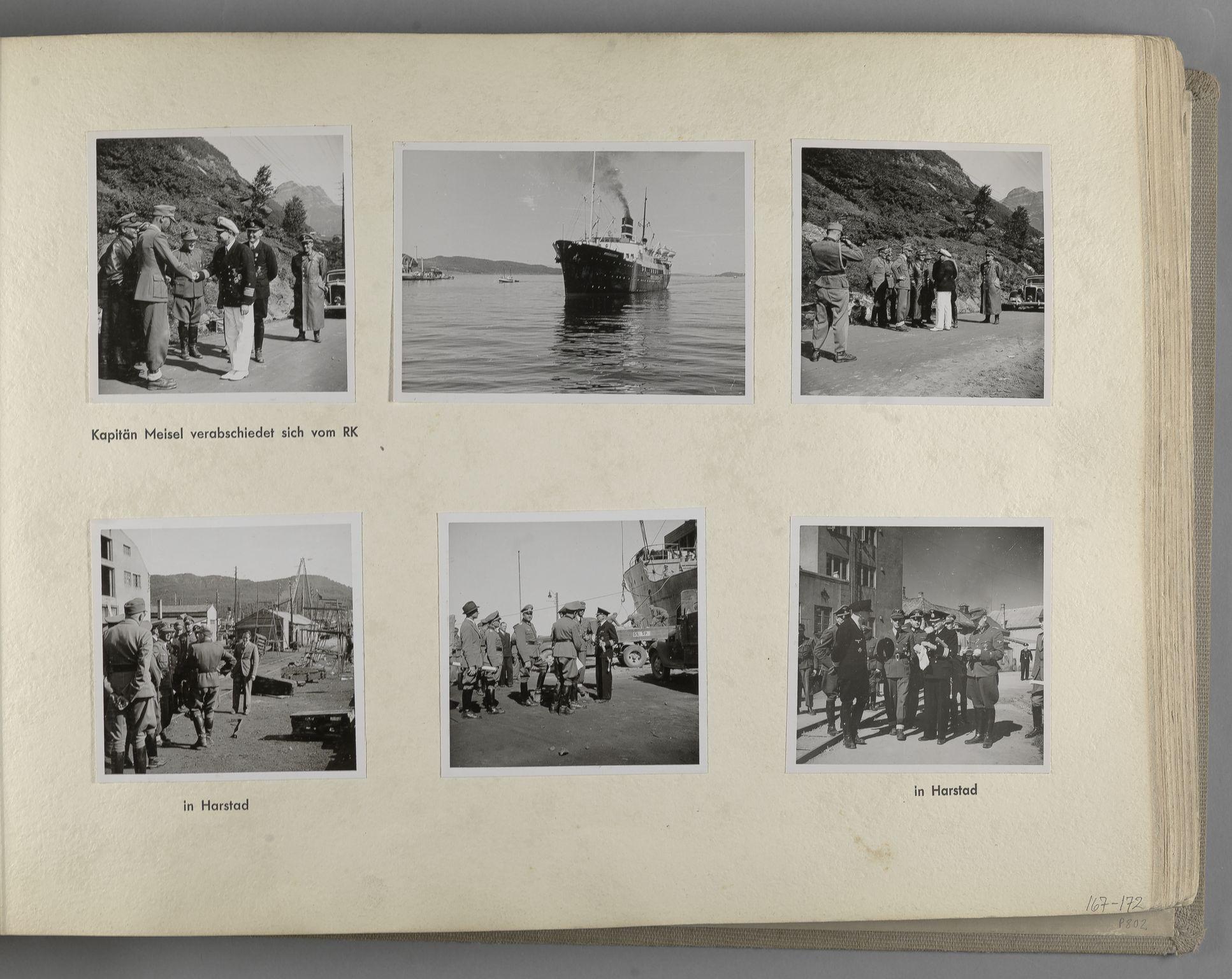 RA, Tyske arkiver, Reichskommissariat, Bildarchiv, U/L0071: Fotoalbum: Mit dem Reichskommissar nach Nordnorwegen und Finnland 10. bis 27. Juli 1942, 1942, s. 71