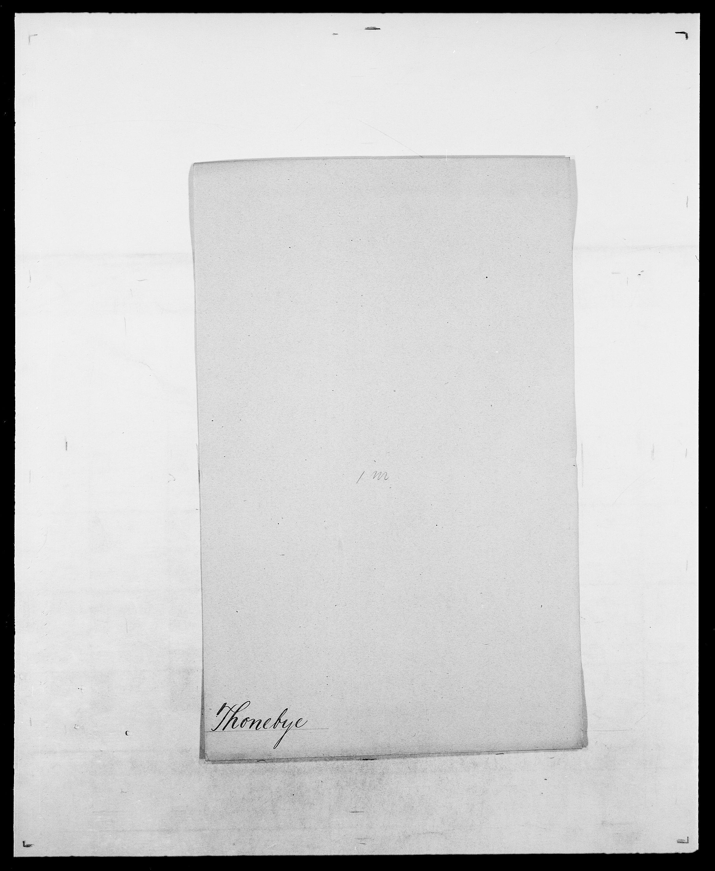 SAO, Delgobe, Charles Antoine - samling, D/Da/L0038: Svanenskjold - Thornsohn, s. 830