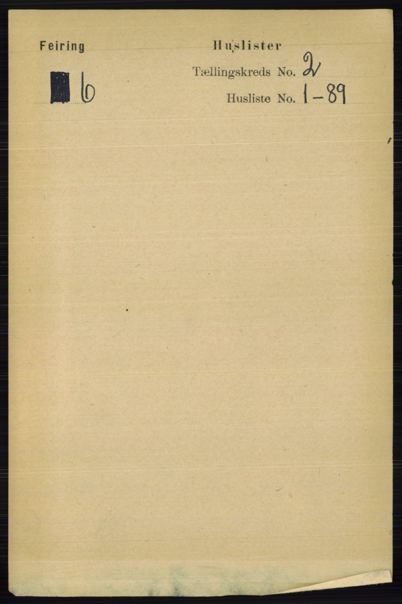 RA, Folketelling 1891 for 0240 Feiring herred, 1891, s. 669