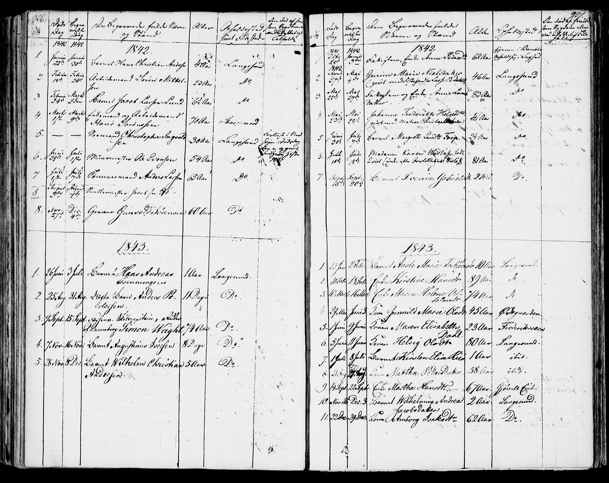 SAKO, Bamble kirkebøker, F/Fa/L0004: Ministerialbok nr. I 4, 1834-1853, s. 926-927