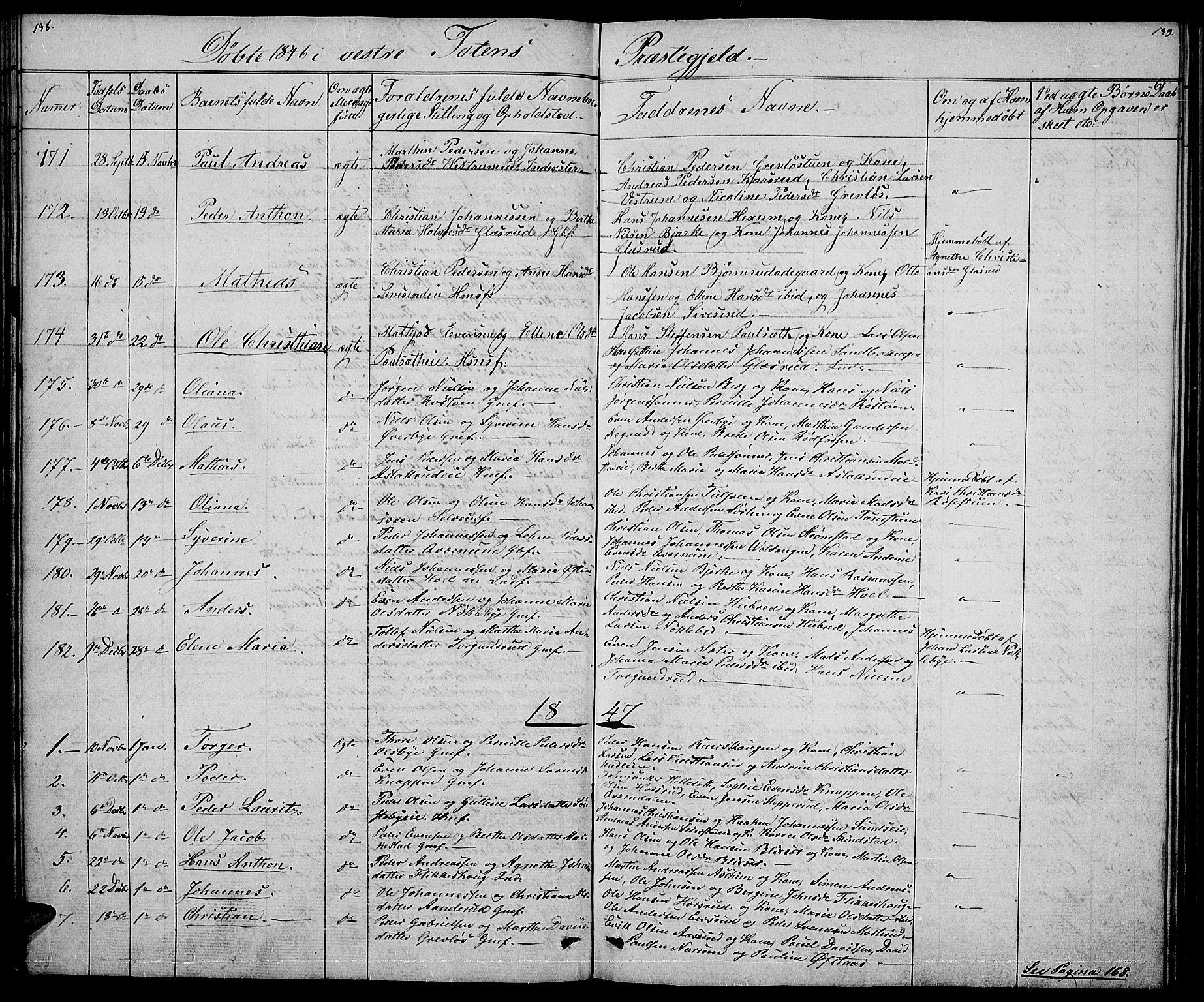 SAH, Vestre Toten prestekontor, Klokkerbok nr. 2, 1836-1848, s. 138-139