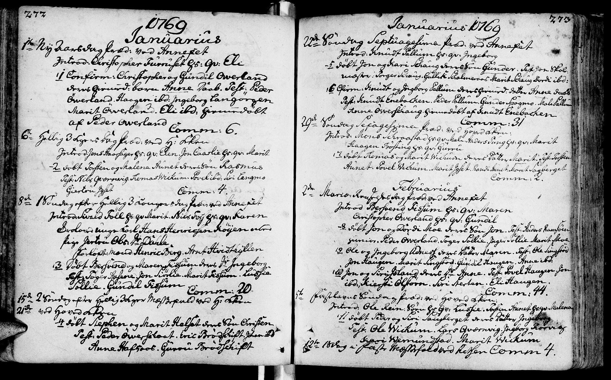 SAT, Ministerialprotokoller, klokkerbøker og fødselsregistre - Sør-Trøndelag, 646/L0605: Ministerialbok nr. 646A03, 1751-1790, s. 272-273