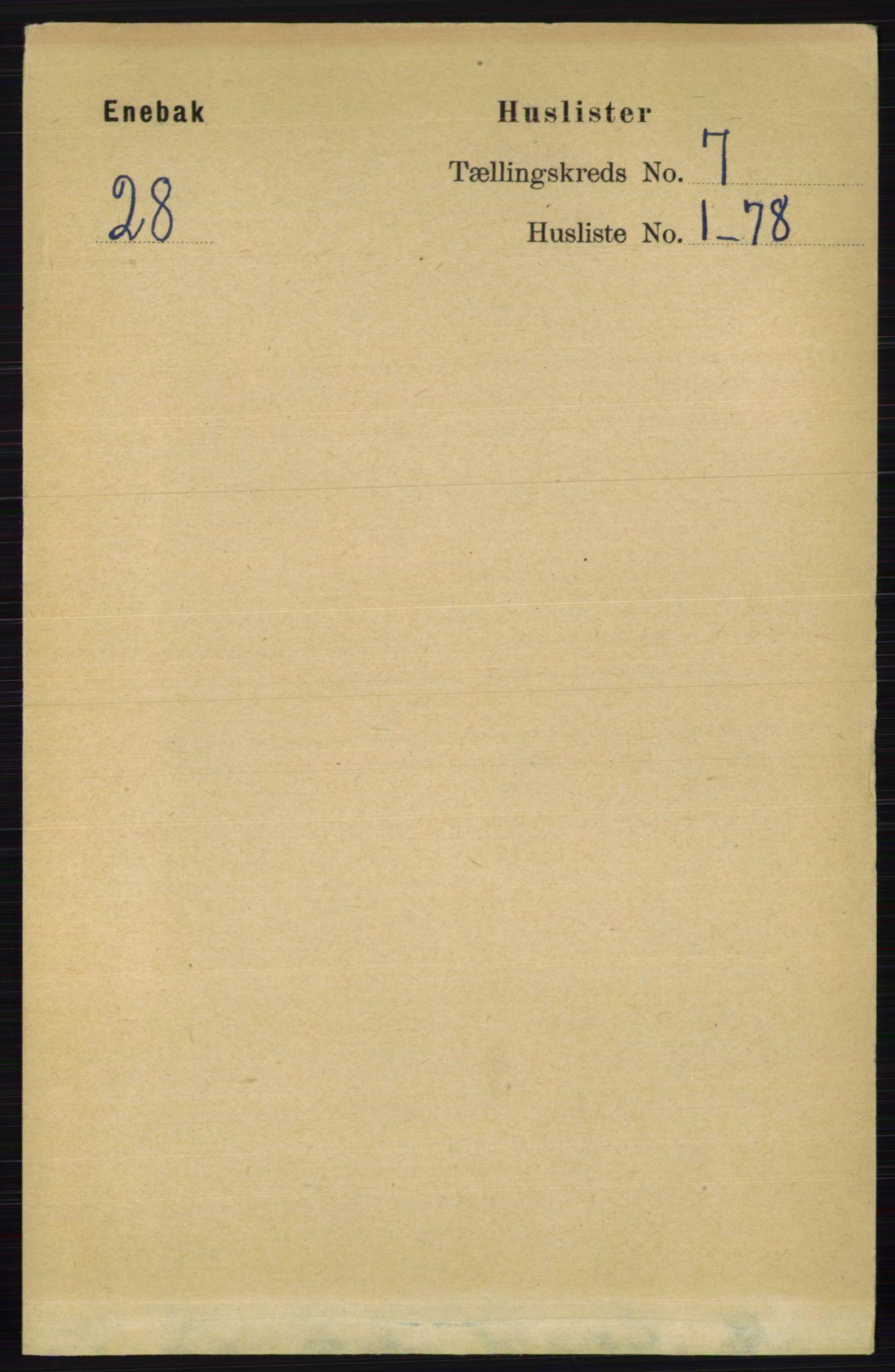 RA, Folketelling 1891 for 0229 Enebakk herred, 1891, s. 3486