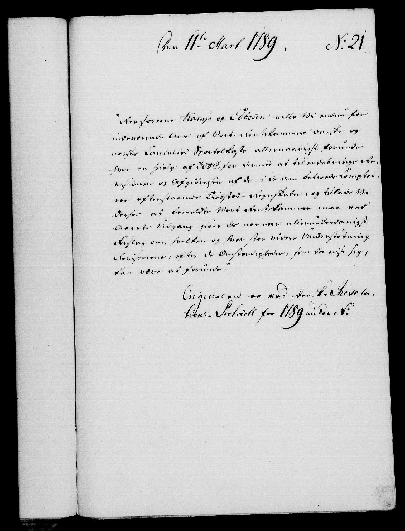 RA, Rentekammeret, Kammerkanselliet, G/Gf/Gfa/L0071: Norsk relasjons- og resolusjonsprotokoll (merket RK 52.71), 1789, s. 173