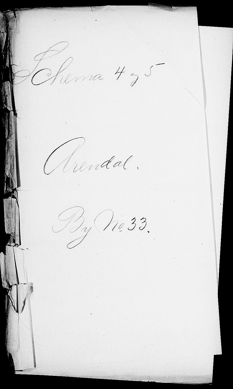 SAK, Folketelling 1900 for 0903 Arendal kjøpstad, 1900, s. 1