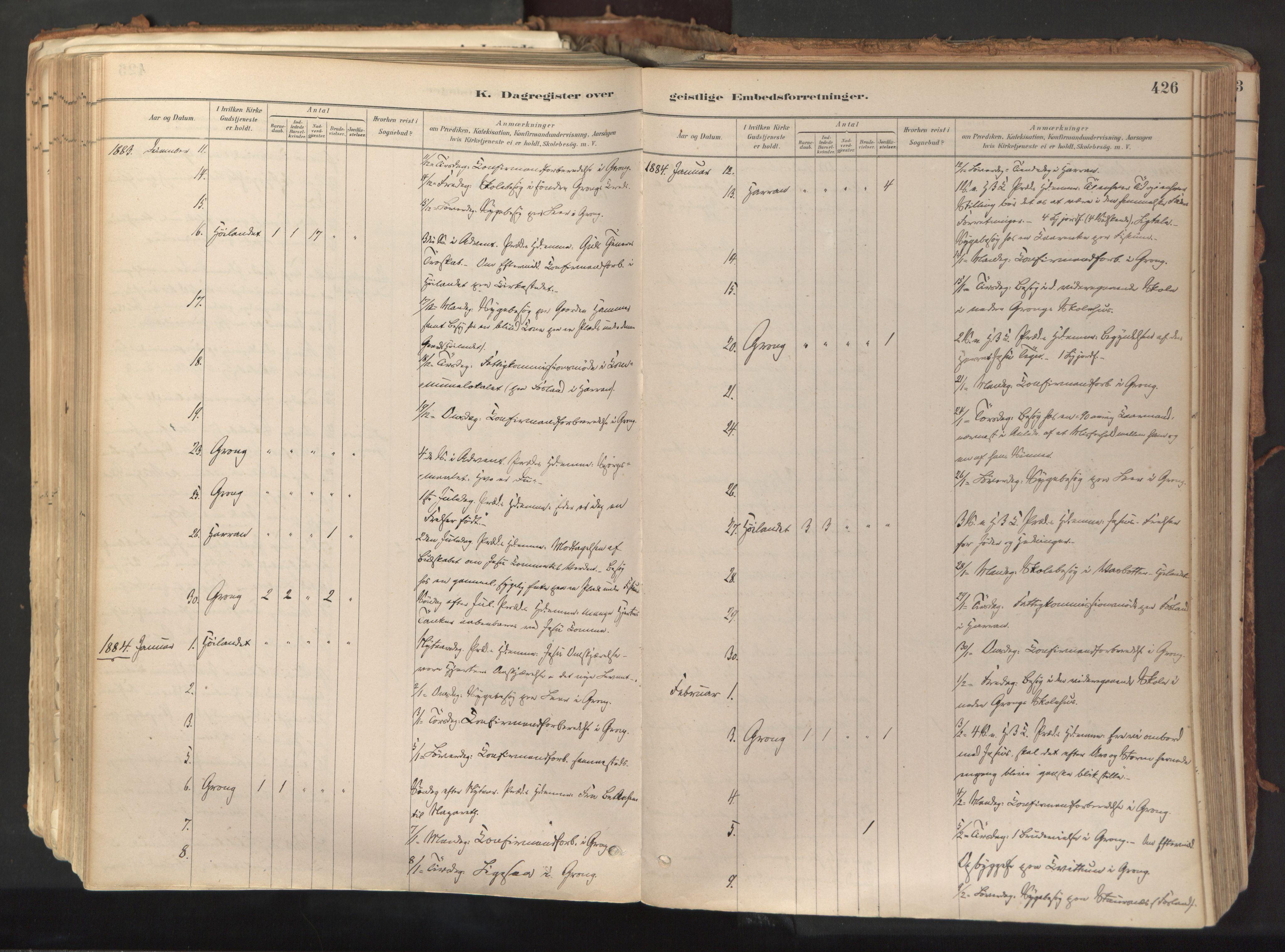 SAT, Ministerialprotokoller, klokkerbøker og fødselsregistre - Nord-Trøndelag, 758/L0519: Ministerialbok nr. 758A04, 1880-1926, s. 426