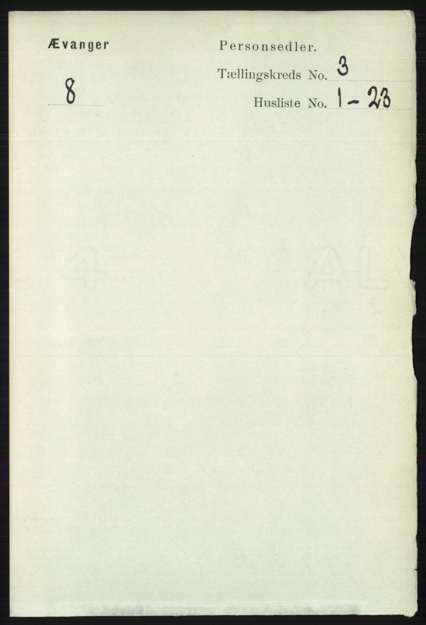 RA, Folketelling 1891 for 1237 Evanger herred, 1891, s. 851