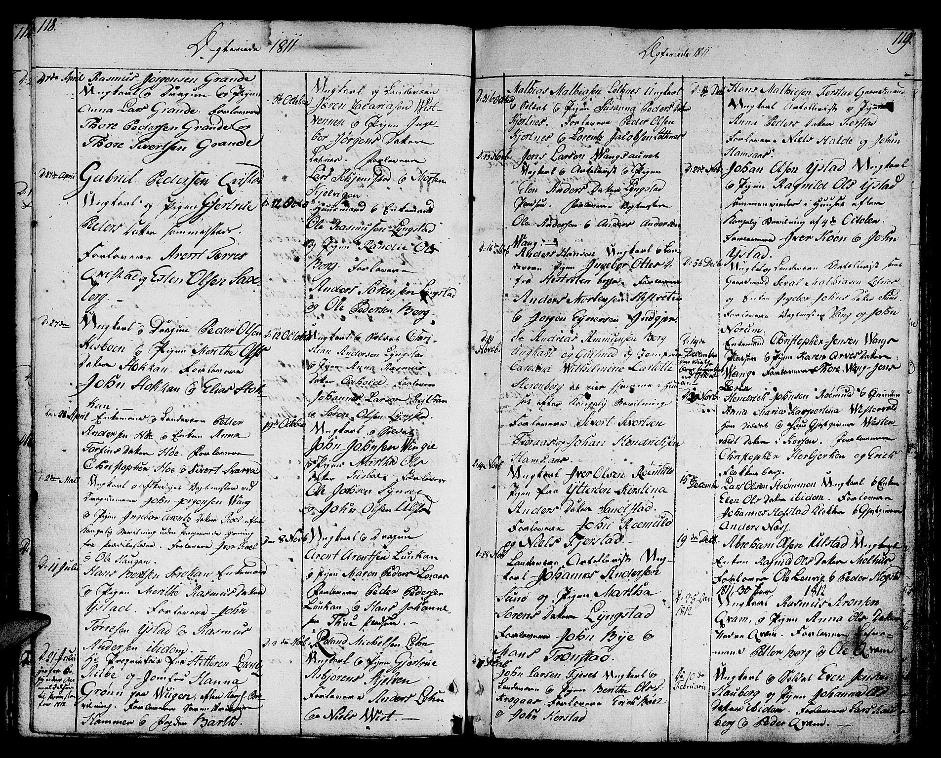 SAT, Ministerialprotokoller, klokkerbøker og fødselsregistre - Nord-Trøndelag, 730/L0274: Ministerialbok nr. 730A03, 1802-1816, s. 118-119
