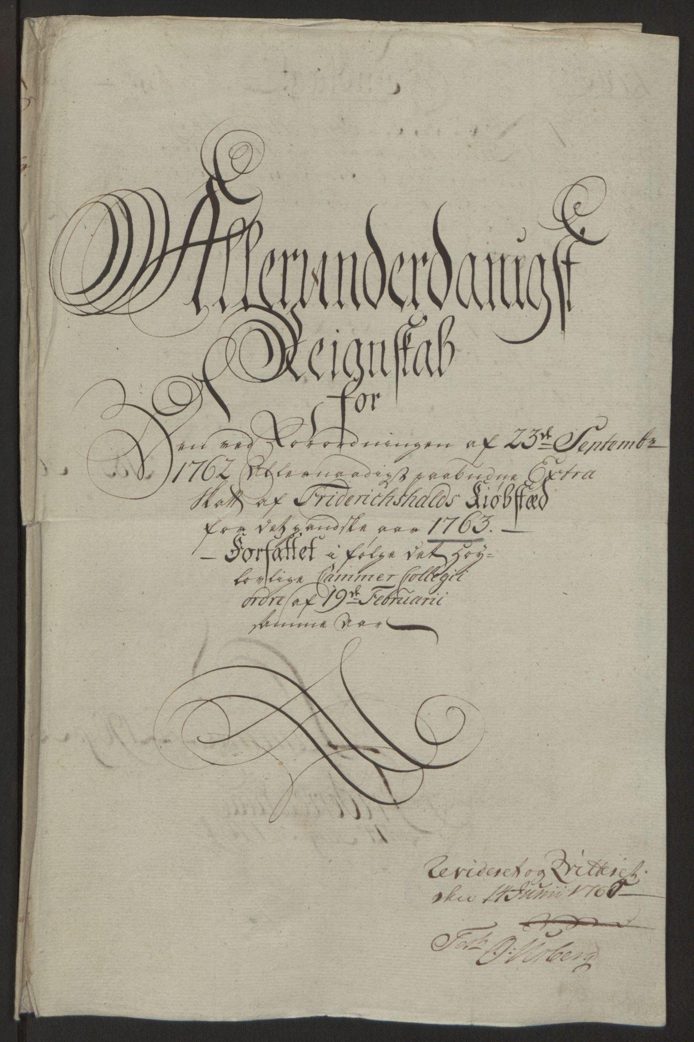 RA, Rentekammeret inntil 1814, Reviderte regnskaper, Byregnskaper, R/Ra/L0006: [A4] Kontribusjonsregnskap, 1762-1772, s. 66