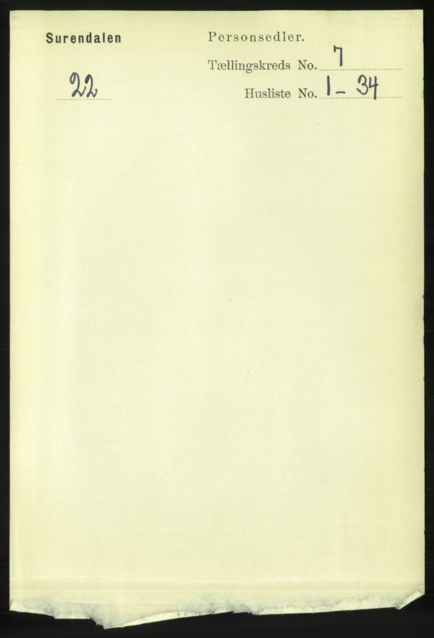 RA, Folketelling 1891 for 1566 Surnadal herred, 1891, s. 1844
