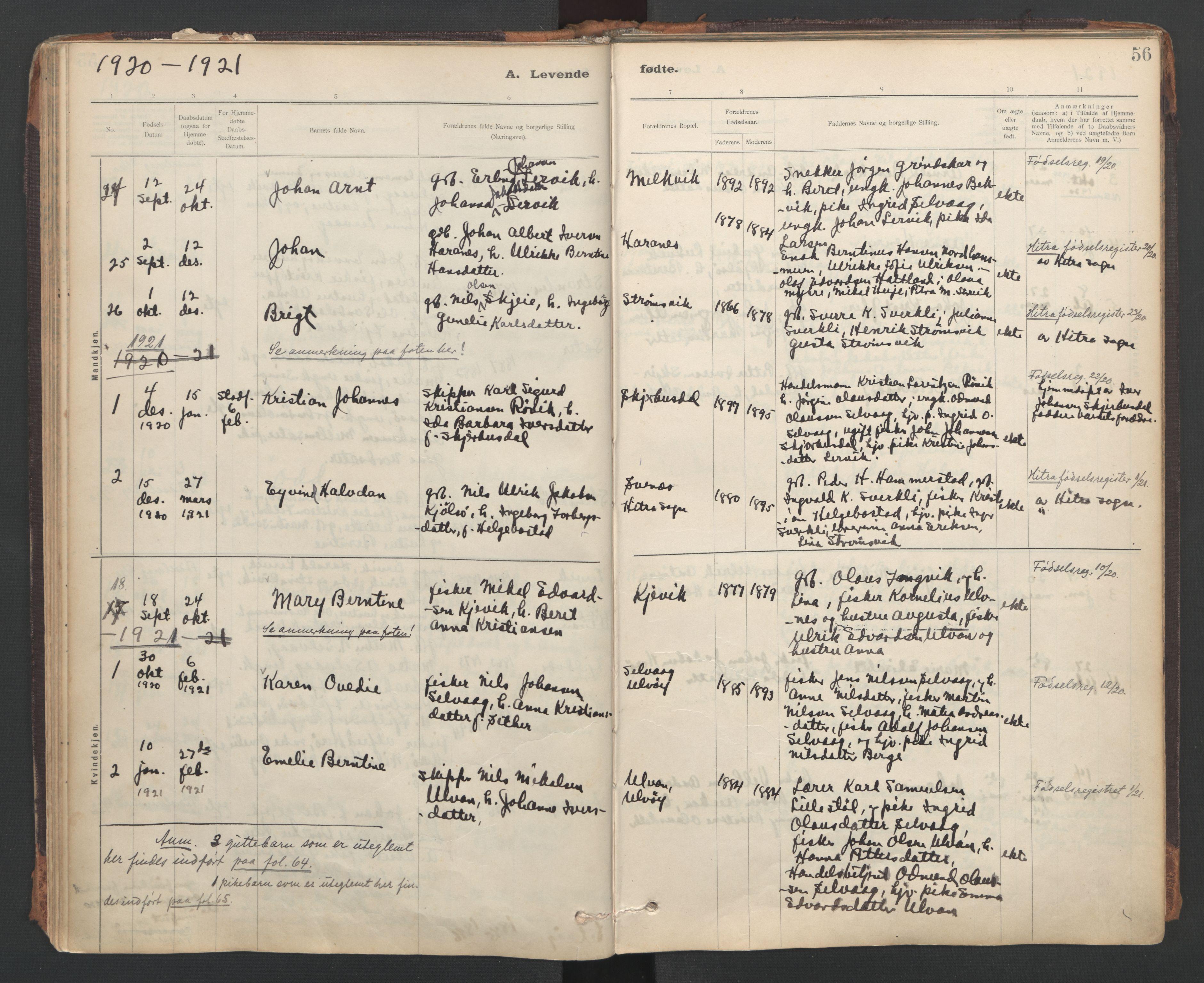 SAT, Ministerialprotokoller, klokkerbøker og fødselsregistre - Sør-Trøndelag, 637/L0559: Ministerialbok nr. 637A02, 1899-1923, s. 56