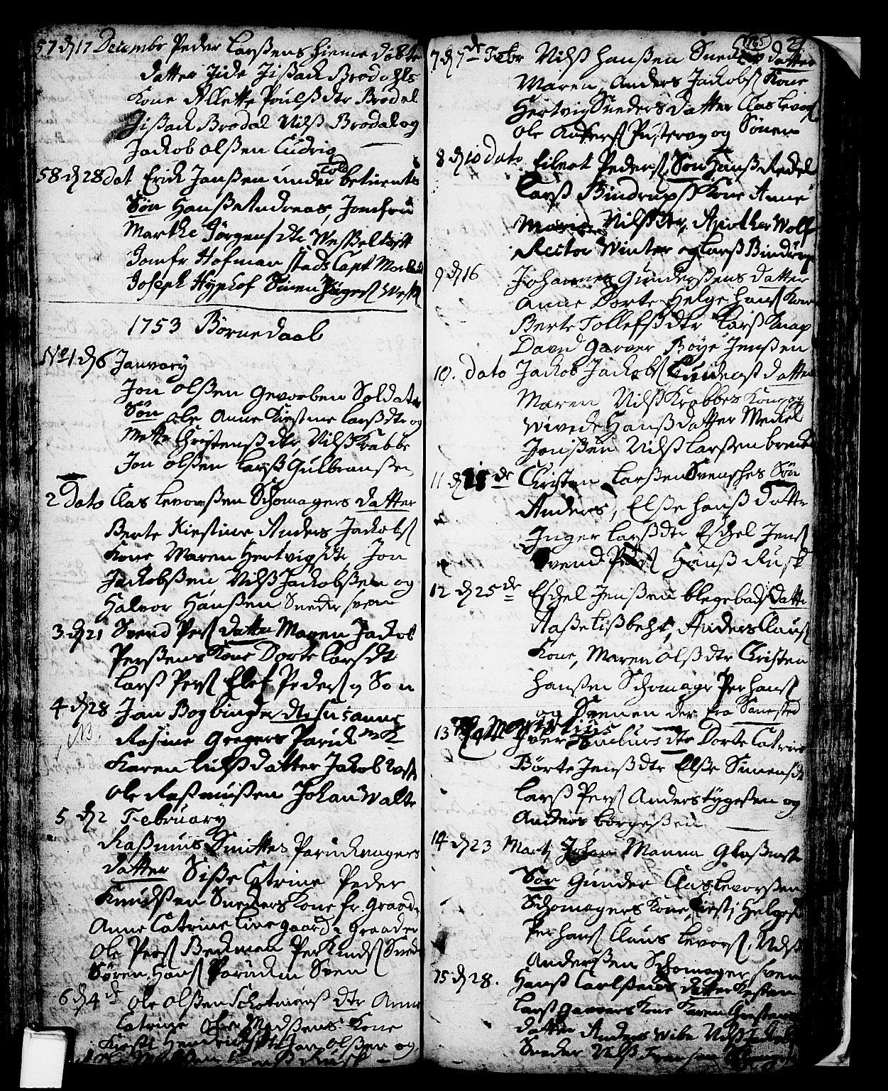 SAKO, Skien kirkebøker, F/Fa/L0002: Ministerialbok nr. 2, 1716-1757, s. 165
