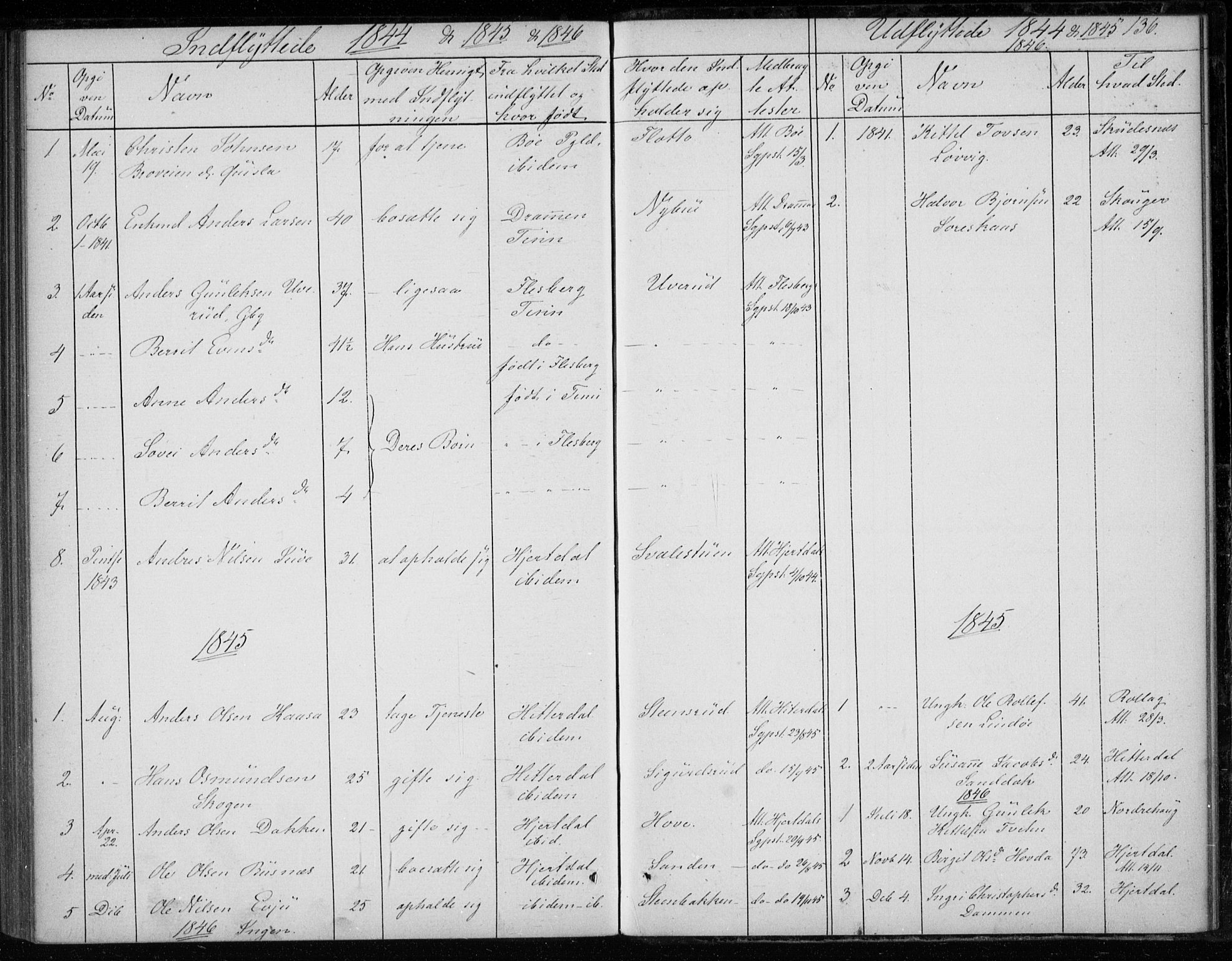 SAKO, Gransherad kirkebøker, F/Fb/L0003: Ministerialbok nr. II 3, 1844-1859, s. 136