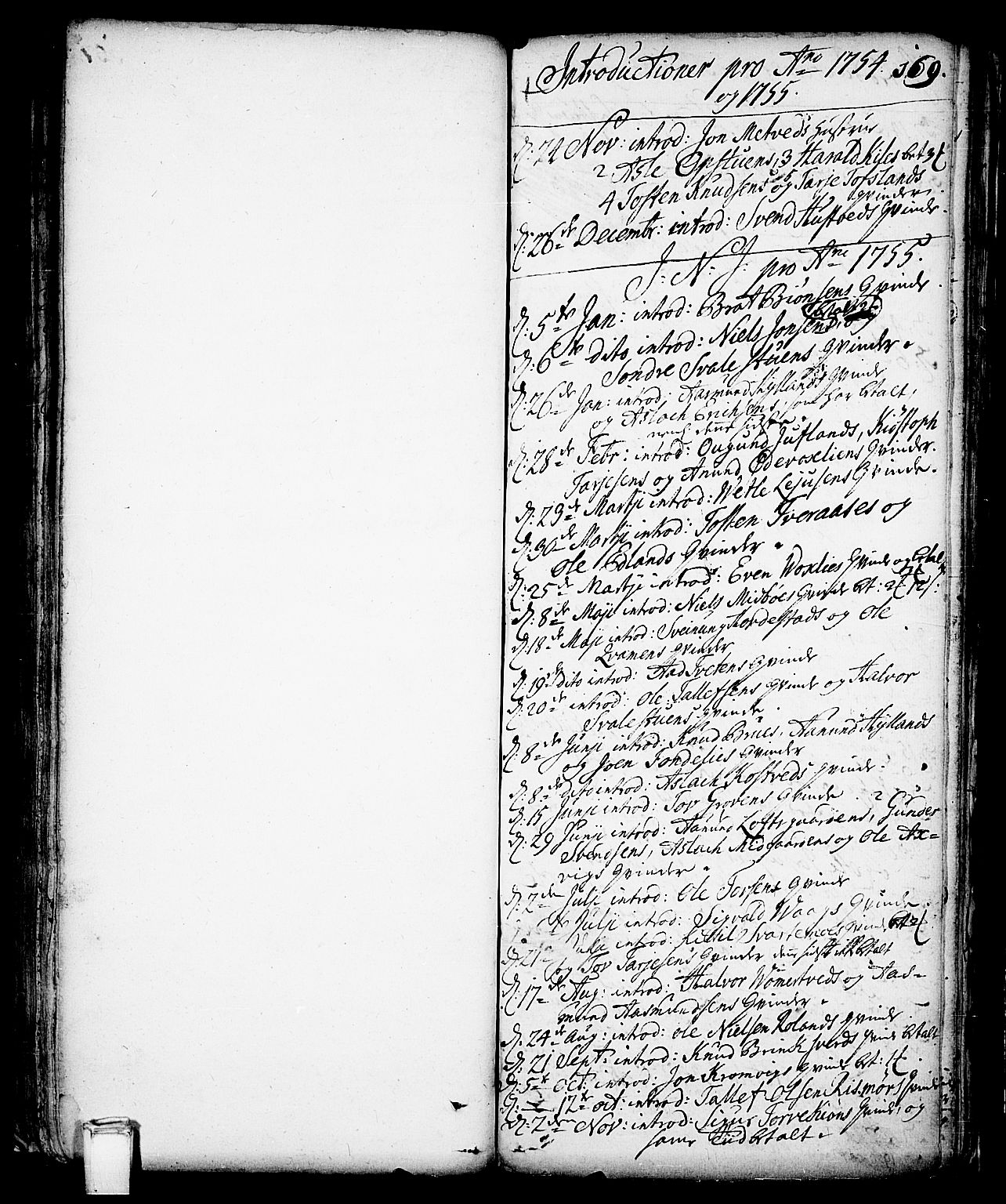 SAKO, Vinje kirkebøker, F/Fa/L0001: Ministerialbok nr. I 1, 1717-1766, s. 169