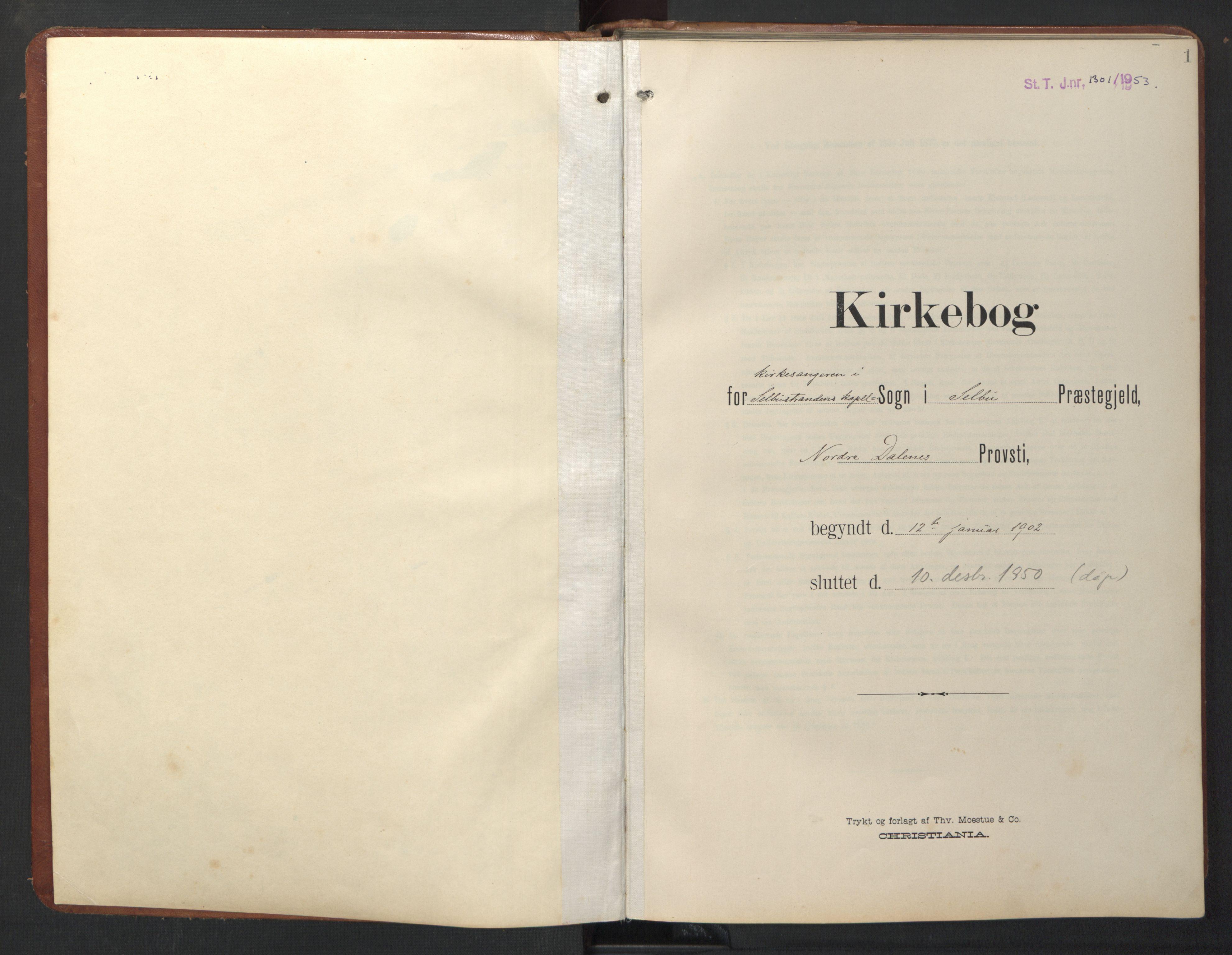 SAT, Ministerialprotokoller, klokkerbøker og fødselsregistre - Sør-Trøndelag, 696/L1161: Klokkerbok nr. 696C01, 1902-1950, s. 1
