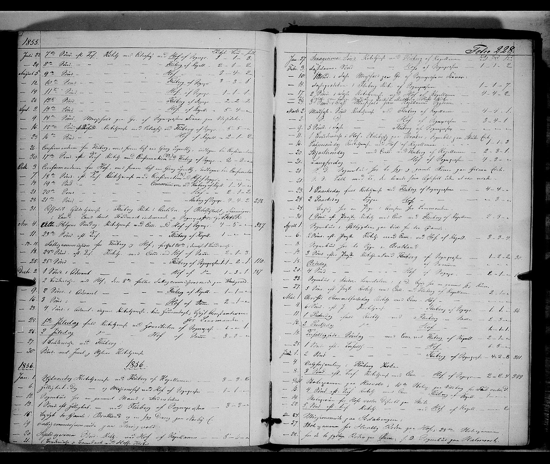 SAH, Land prestekontor, Ministerialbok nr. 9, 1847-1859, s. 228