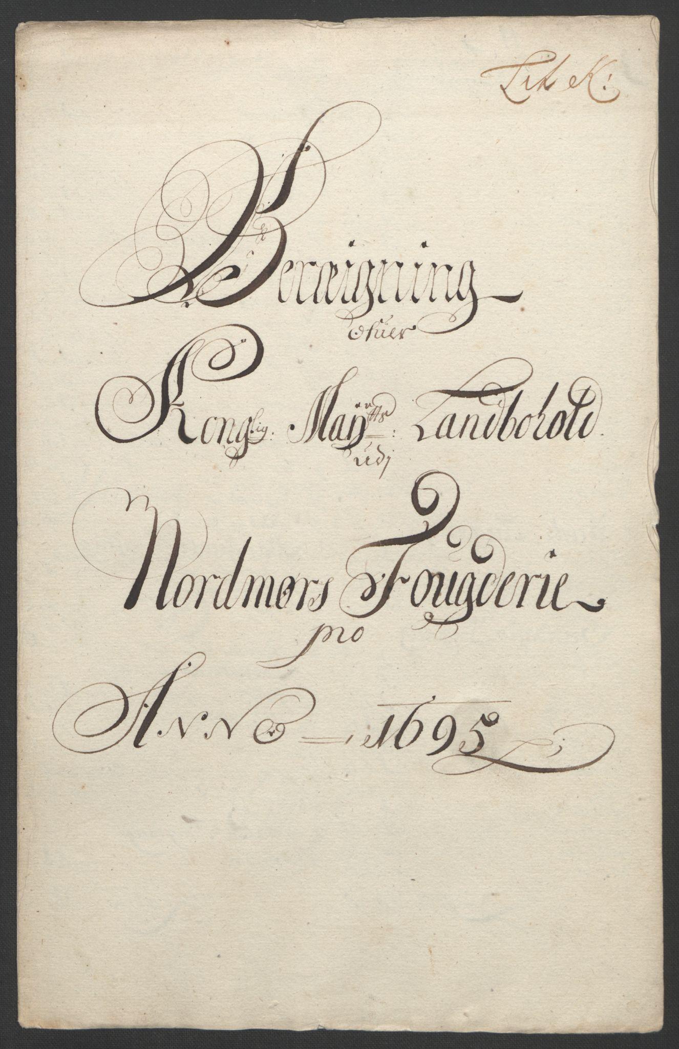 RA, Rentekammeret inntil 1814, Reviderte regnskaper, Fogderegnskap, R56/L3736: Fogderegnskap Nordmøre, 1694-1696, s. 283
