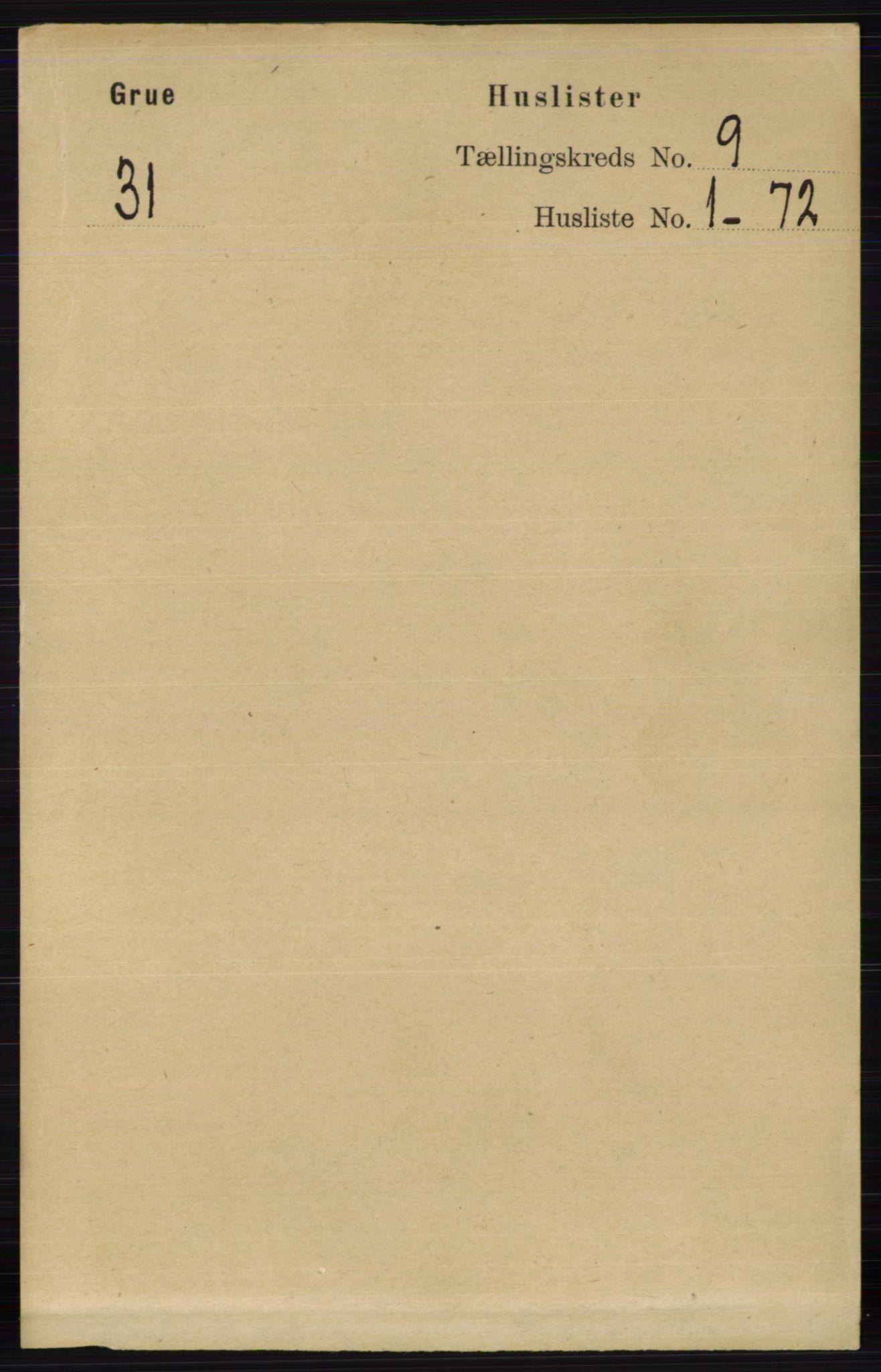 RA, Folketelling 1891 for 0423 Grue herred, 1891, s. 4805