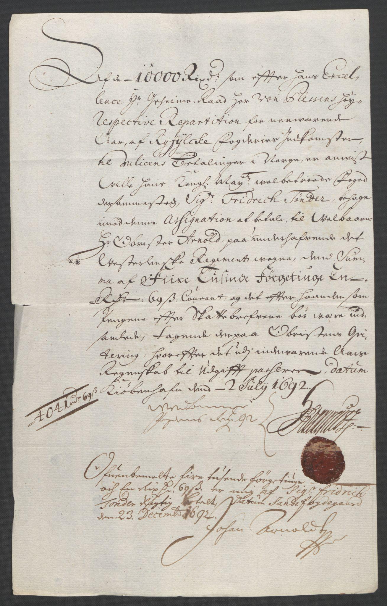 RA, Rentekammeret inntil 1814, Reviderte regnskaper, Fogderegnskap, R47/L2856: Fogderegnskap Ryfylke, 1689-1693, s. 518