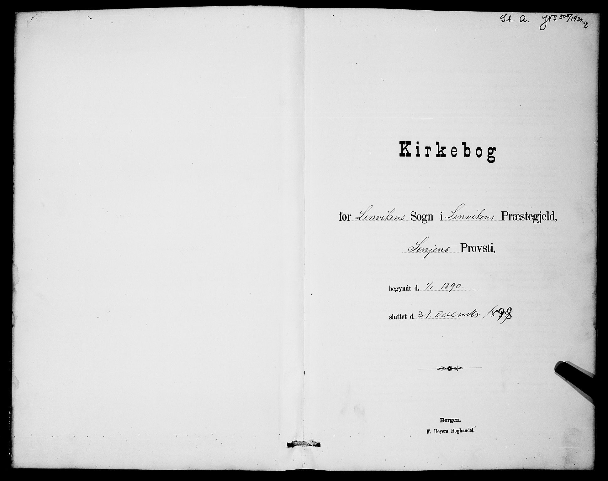 SATØ, Lenvik sokneprestembete, H/Ha: Klokkerbok nr. 7, 1890-1898, s. 2