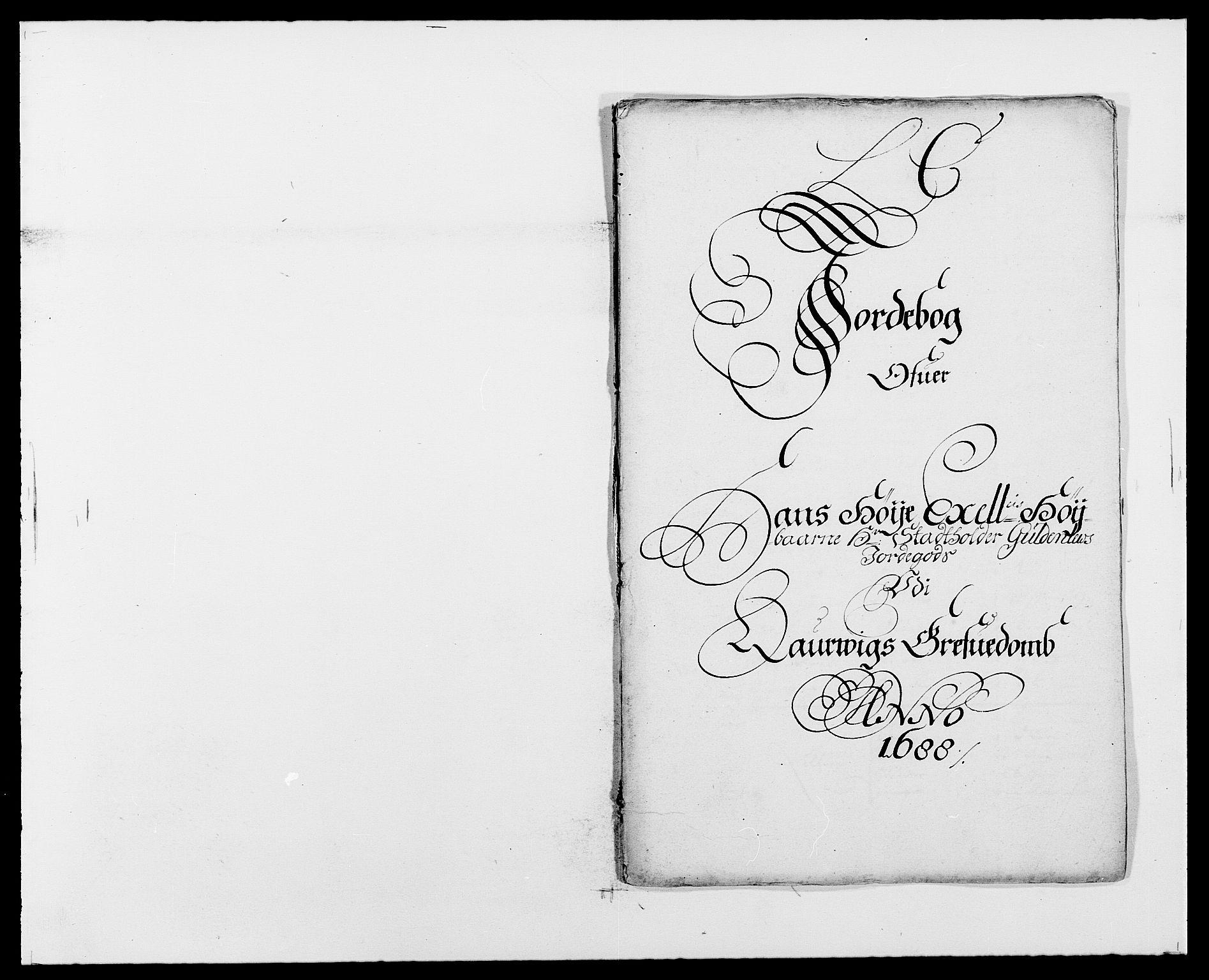 RA, Rentekammeret inntil 1814, Reviderte regnskaper, Fogderegnskap, R33/L1971: Fogderegnskap Larvik grevskap, 1688-1689, s. 61