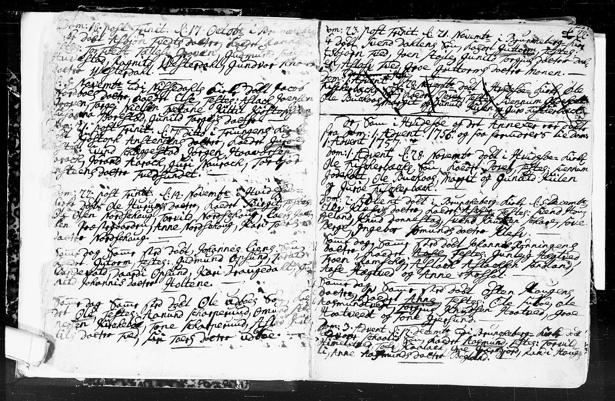 SAKO, Kviteseid kirkebøker, F/Fa/L0001: Ministerialbok nr. I 1, 1754-1773, s. 21-22