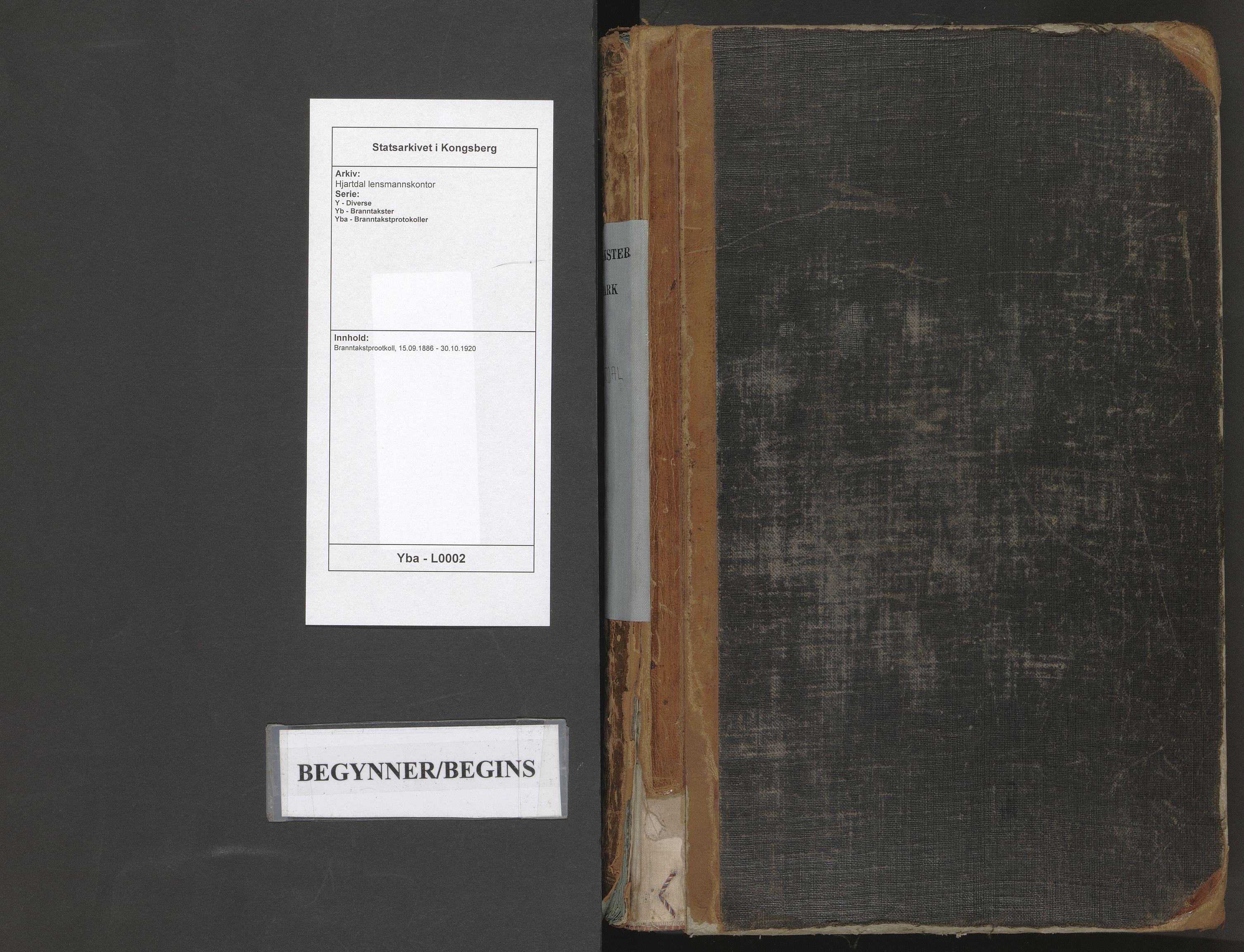 SAKO, Hjartdal lensmannskontor, Y/Yb/Yba/L0002: Branntakstprootkoll, 1886-1920