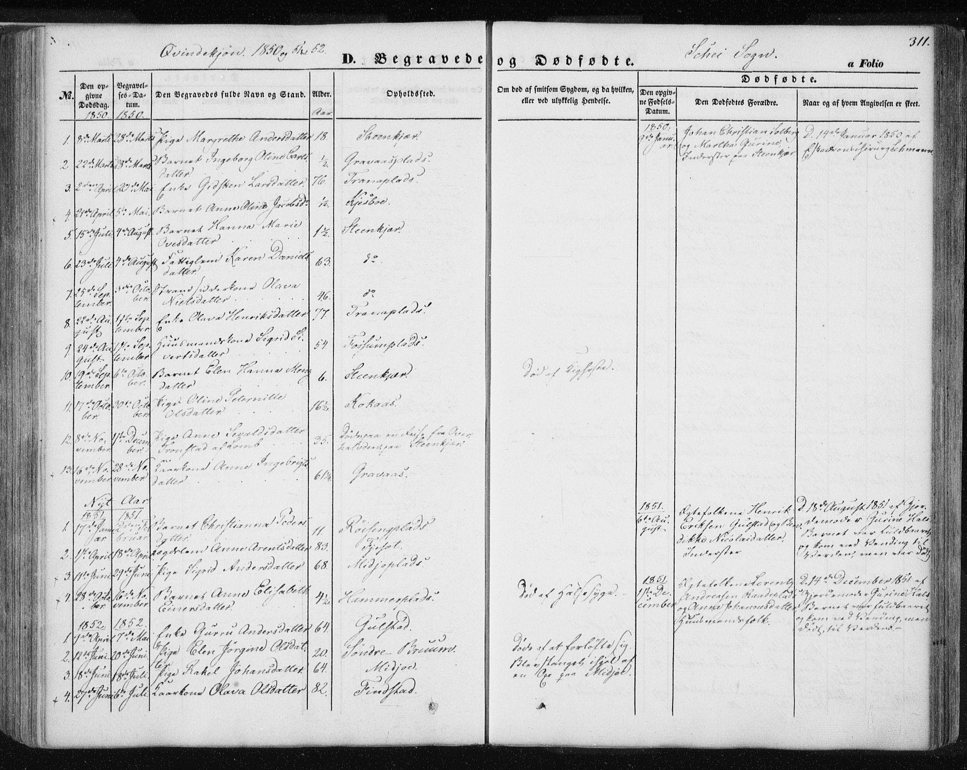 SAT, Ministerialprotokoller, klokkerbøker og fødselsregistre - Nord-Trøndelag, 735/L0342: Ministerialbok nr. 735A07 /2, 1849-1862, s. 311