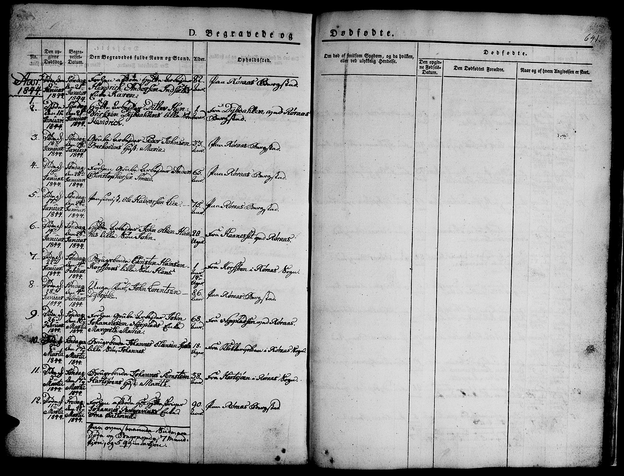 SAT, Ministerialprotokoller, klokkerbøker og fødselsregistre - Sør-Trøndelag, 681/L0939: Klokkerbok nr. 681C03, 1829-1855, s. 641