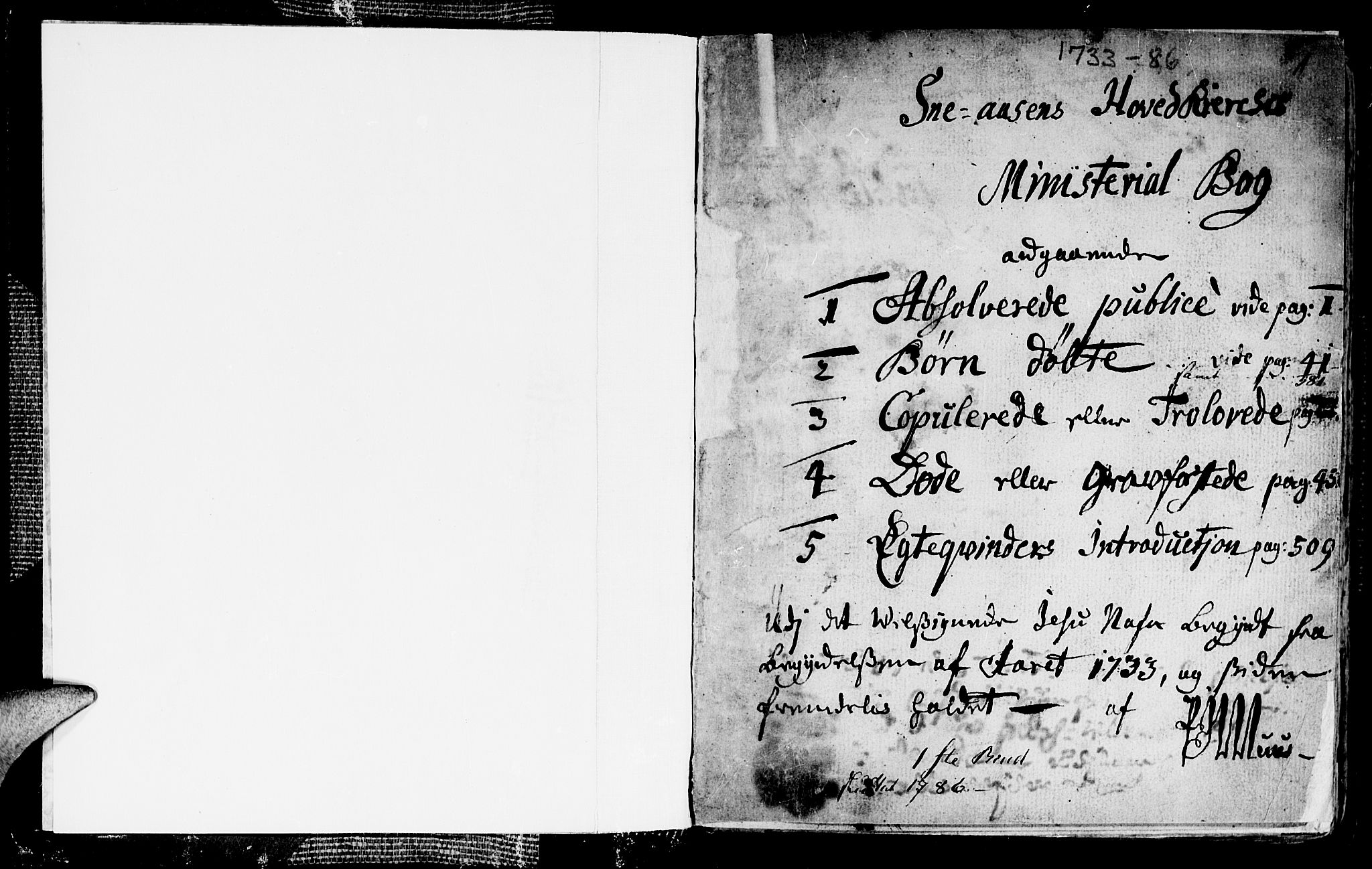 SAT, Ministerialprotokoller, klokkerbøker og fødselsregistre - Nord-Trøndelag, 749/L0467: Ministerialbok nr. 749A01, 1733-1787