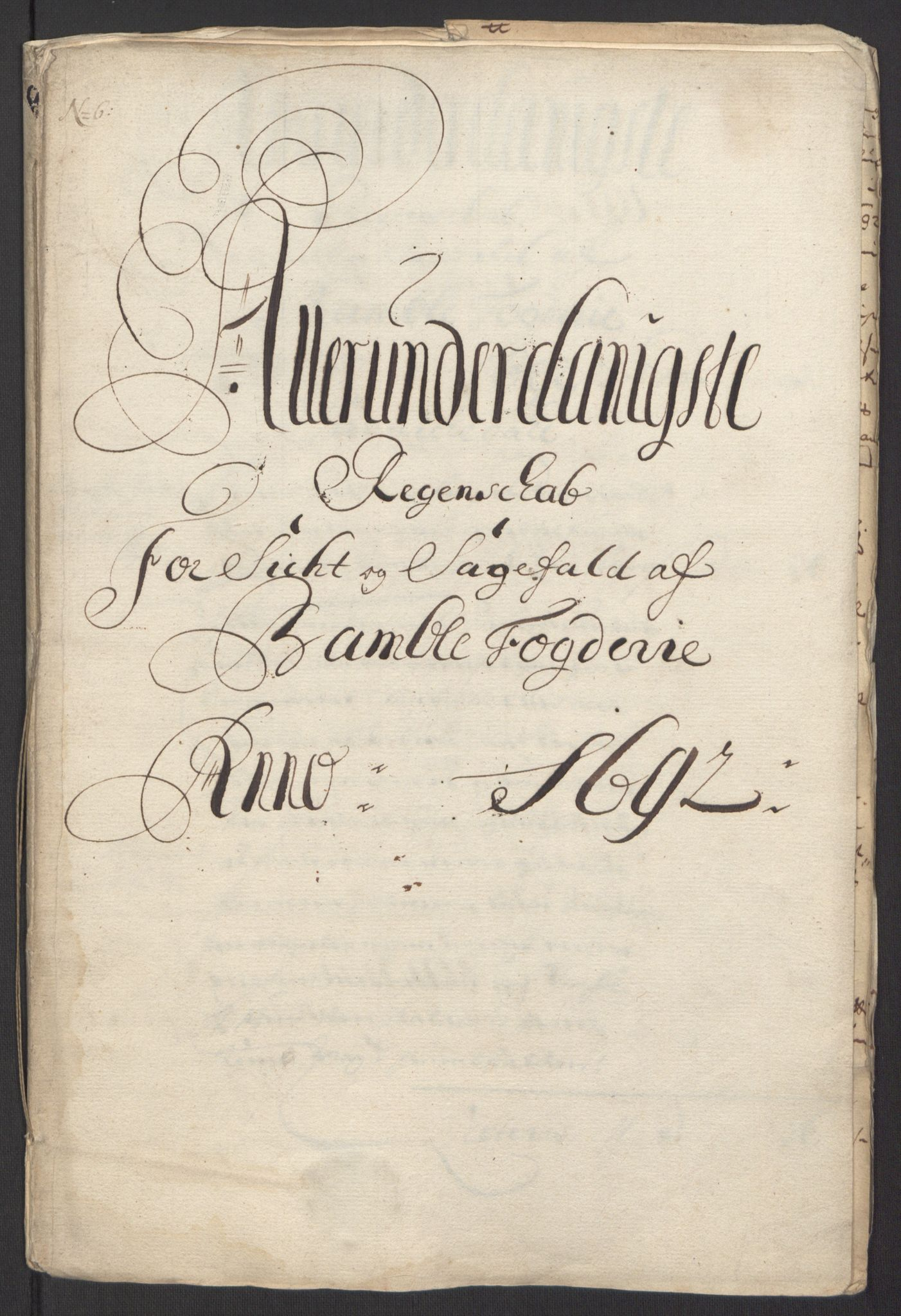 RA, Rentekammeret inntil 1814, Reviderte regnskaper, Fogderegnskap, R34/L2052: Fogderegnskap Bamble, 1692-1693, s. 29