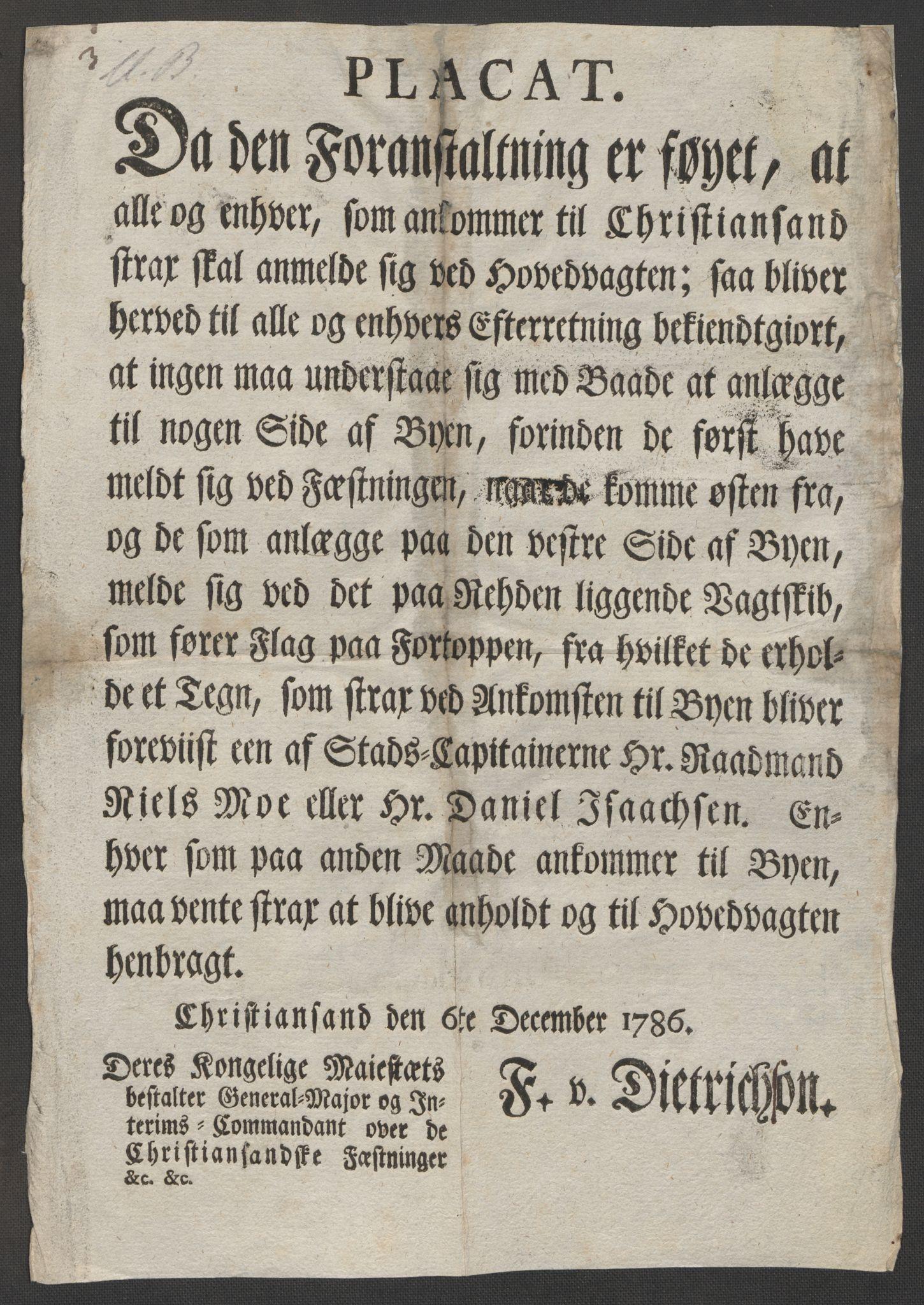 RA, Danske Kanselli, Skapsaker, F/L0095: Skap 16, pakke 7 I, 1785-1786, s. 244