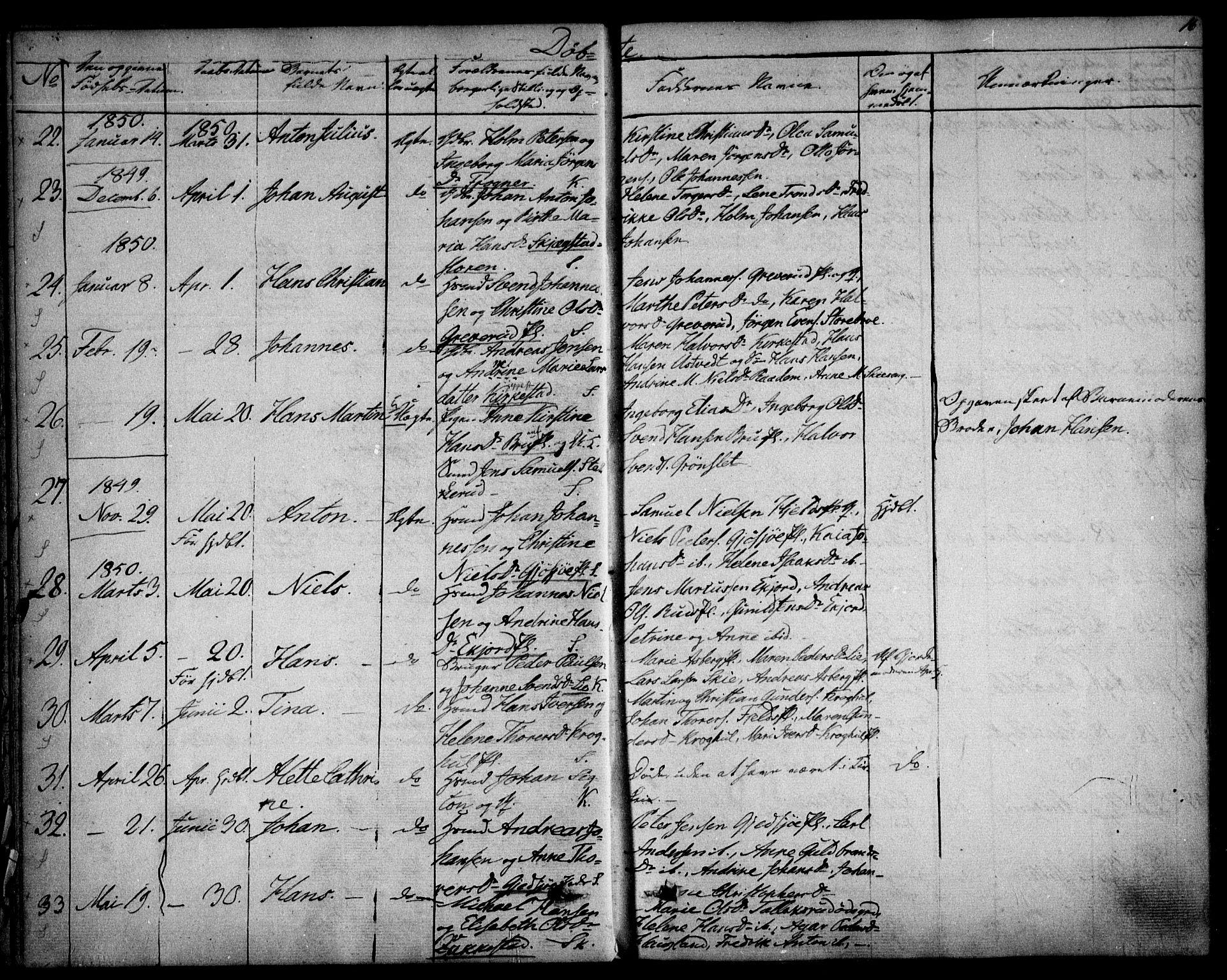 SAO, Kråkstad prestekontor Kirkebøker, F/Fa/L0006: Ministerialbok nr. I 6, 1848-1857, s. 16