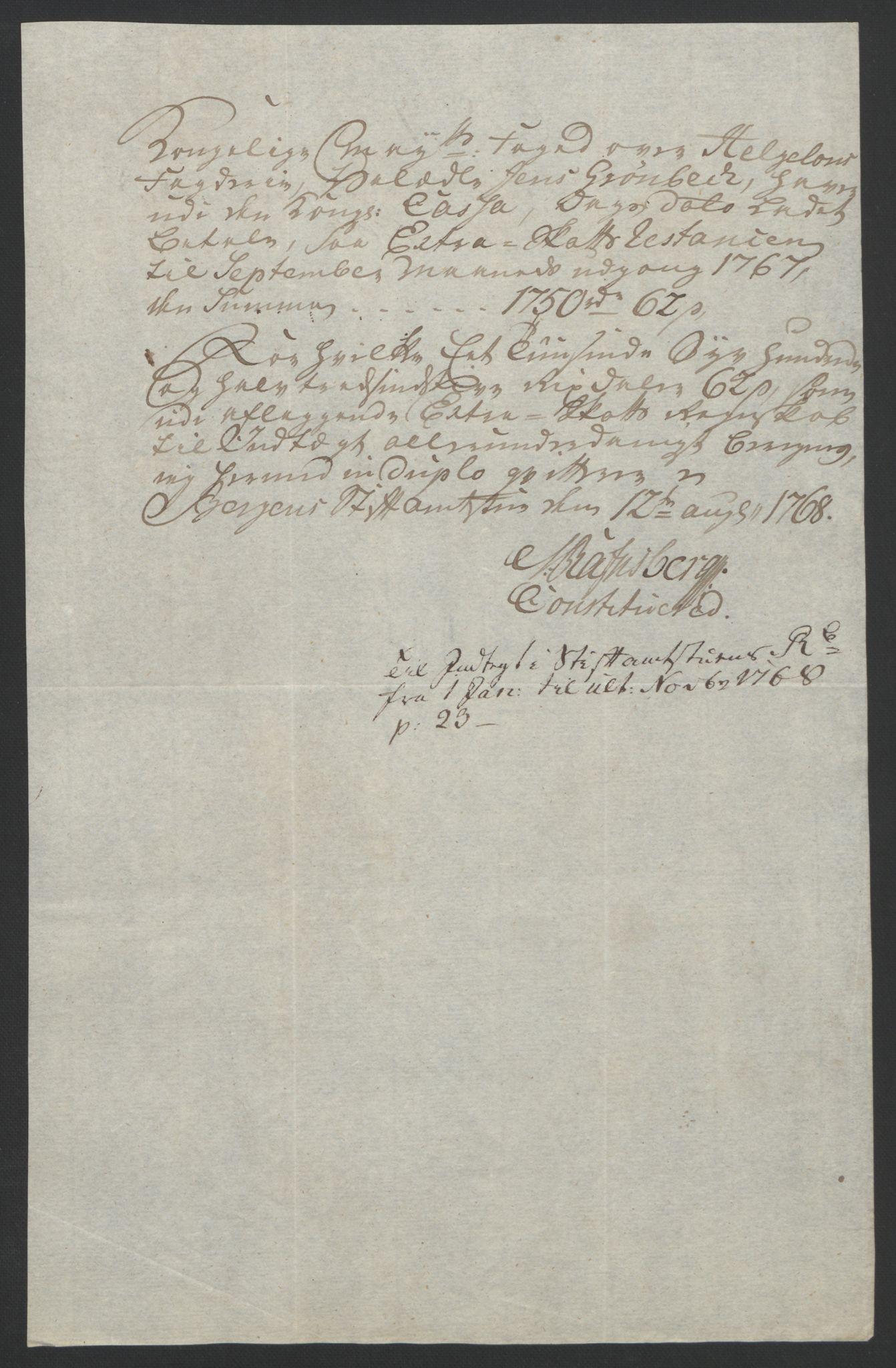 RA, Rentekammeret inntil 1814, Reviderte regnskaper, Fogderegnskap, R65/L4573: Ekstraskatten Helgeland, 1762-1772, s. 165