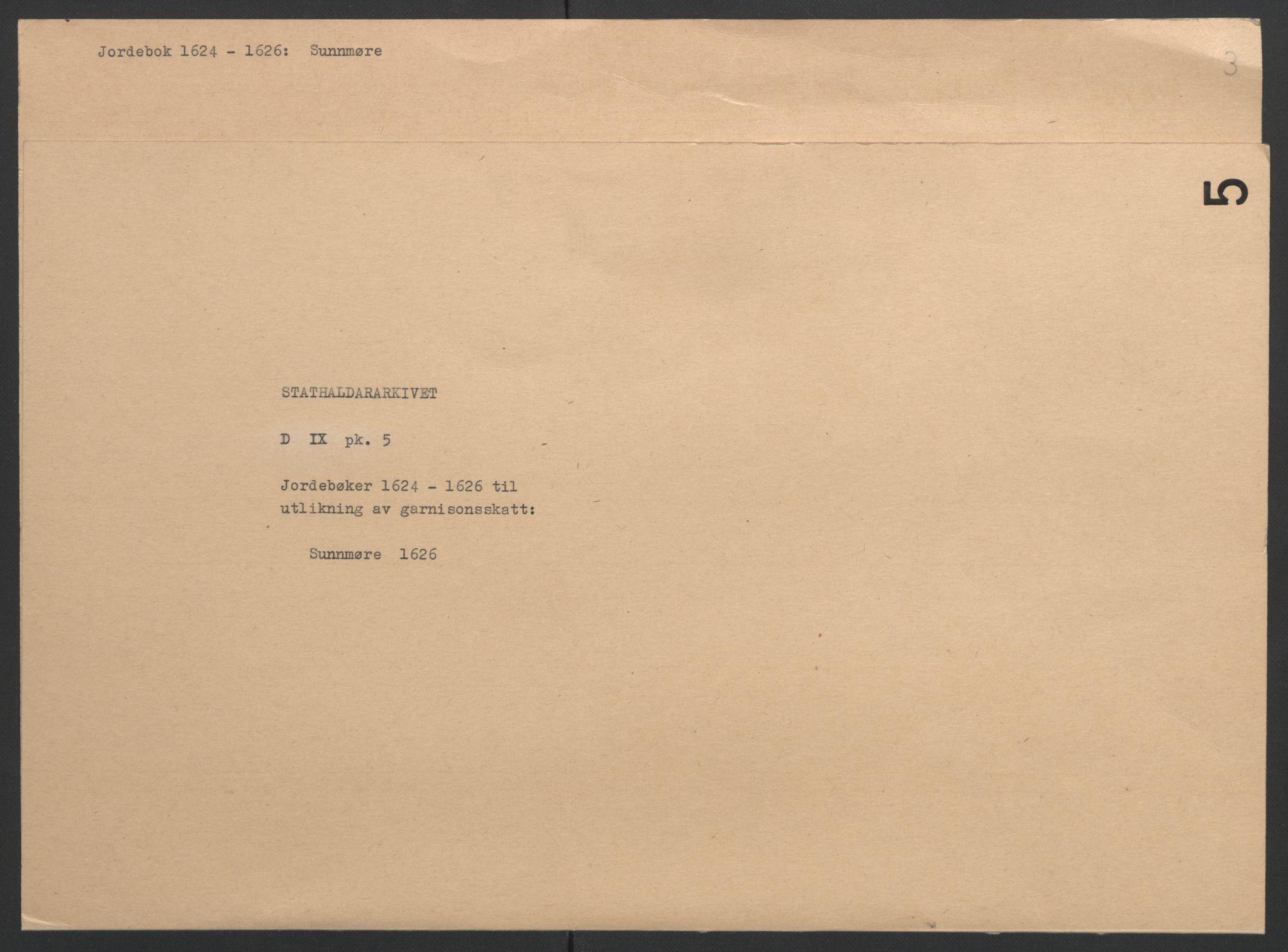 RA, Stattholderembetet 1572-1771, Ek/L0005: Jordebøker til utlikning av garnisonsskatt 1624-1626:, 1626, s. 141