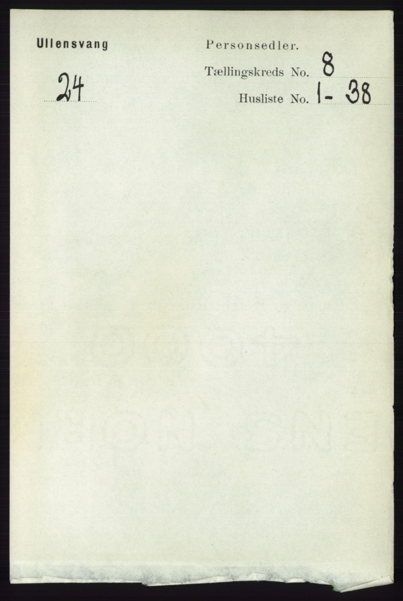 RA, Folketelling 1891 for 1230 Ullensvang herred, 1891, s. 2714