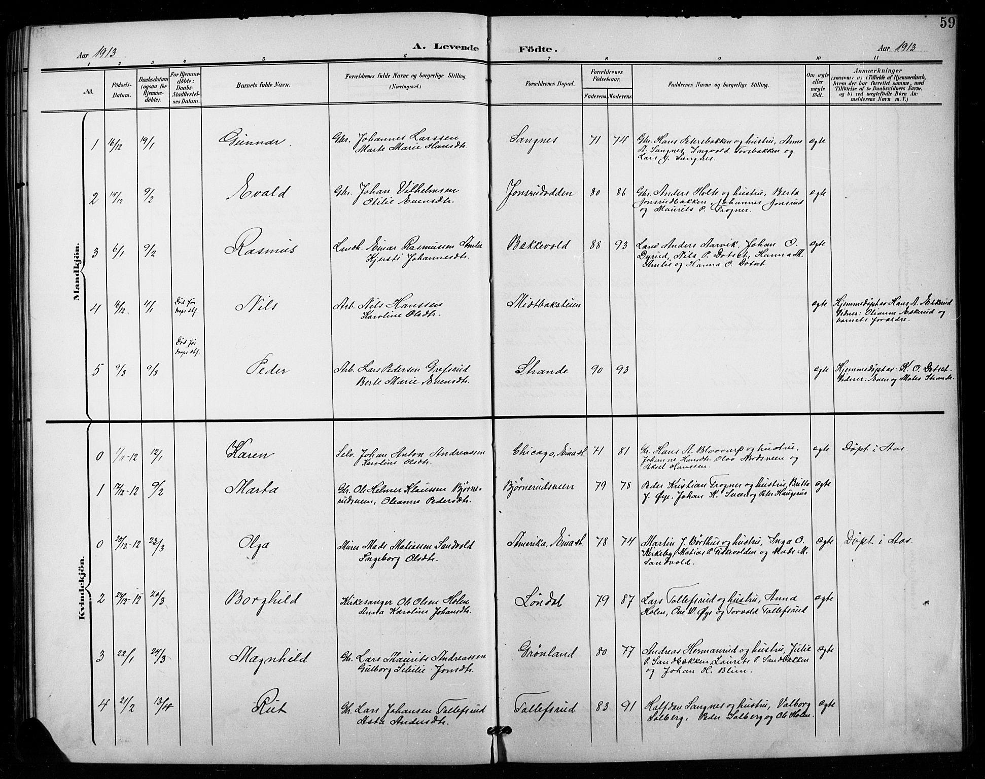 SAH, Vestre Toten prestekontor, Klokkerbok nr. 16, 1901-1915, s. 59