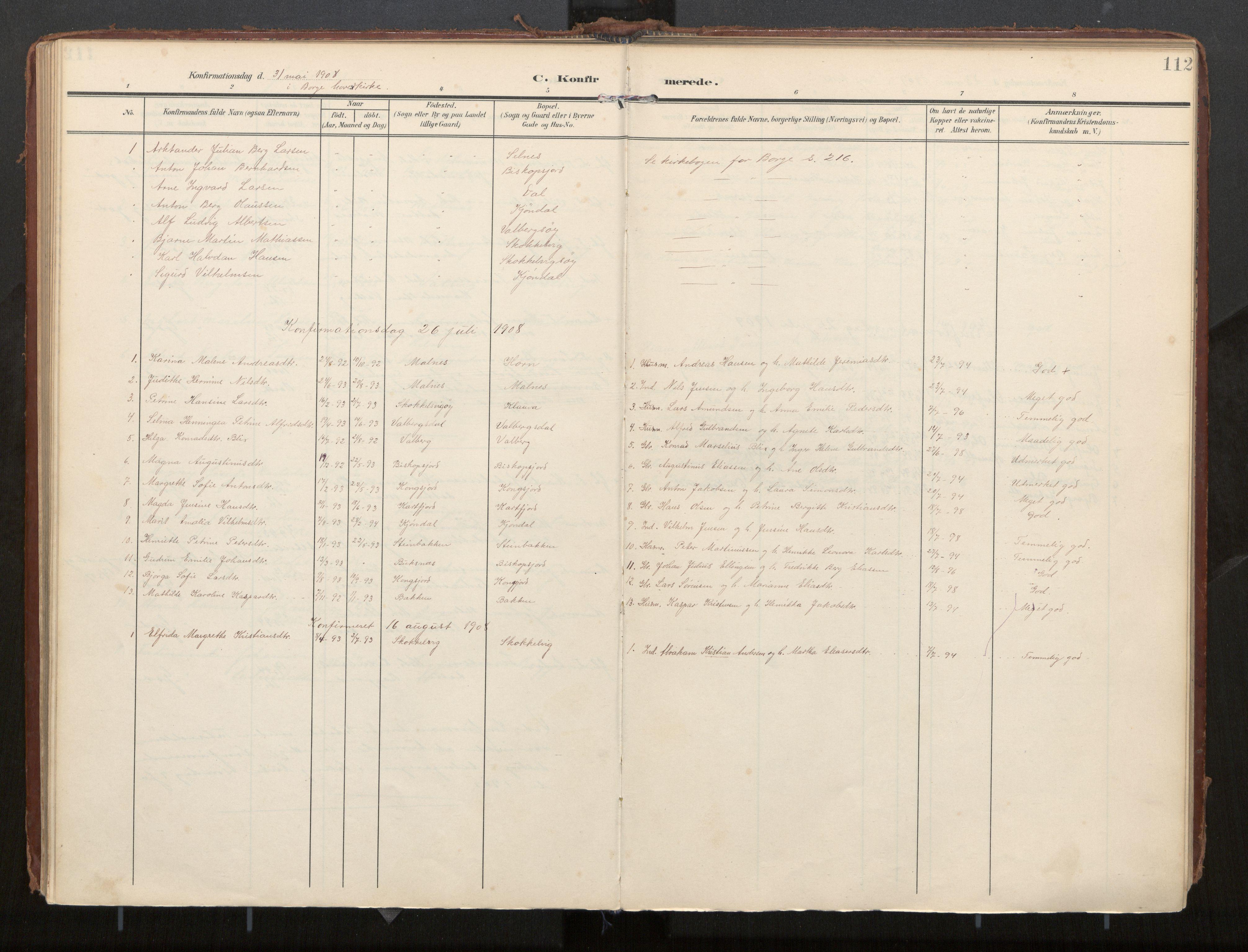 SAT, Ministerialprotokoller, klokkerbøker og fødselsregistre - Nordland, 884/L1194: Ministerialbok nr. 884A02, 1906-1937, s. 112